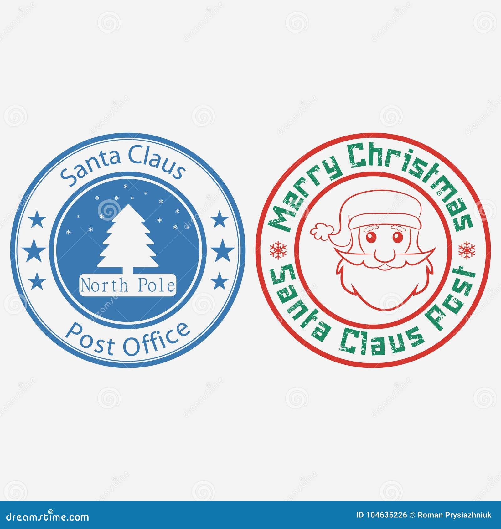 Download Kerstmispostzegel Vector Illustratie Vector Illustratie - Illustratie bestaande uit illustratie, rood: 104635226