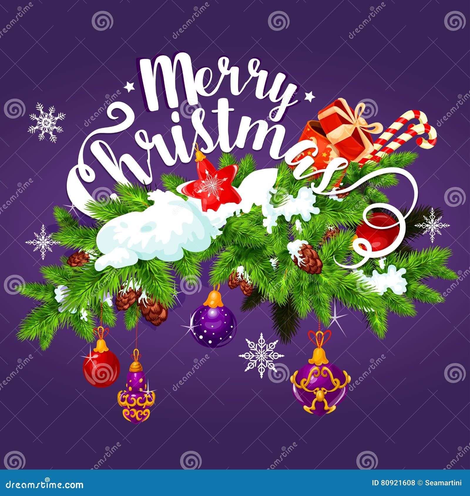 Kerstmisslinger met de kaartontwerp van de giftgroet