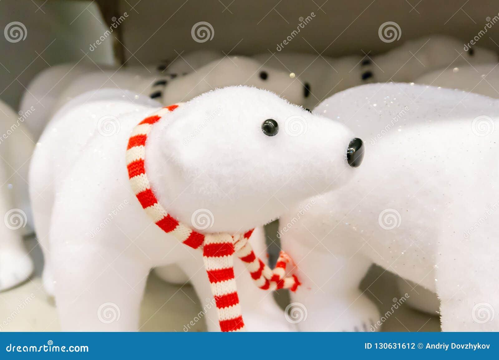 Kerstmisstuk speelgoed ijsbeer voor het Nieuwjaar
