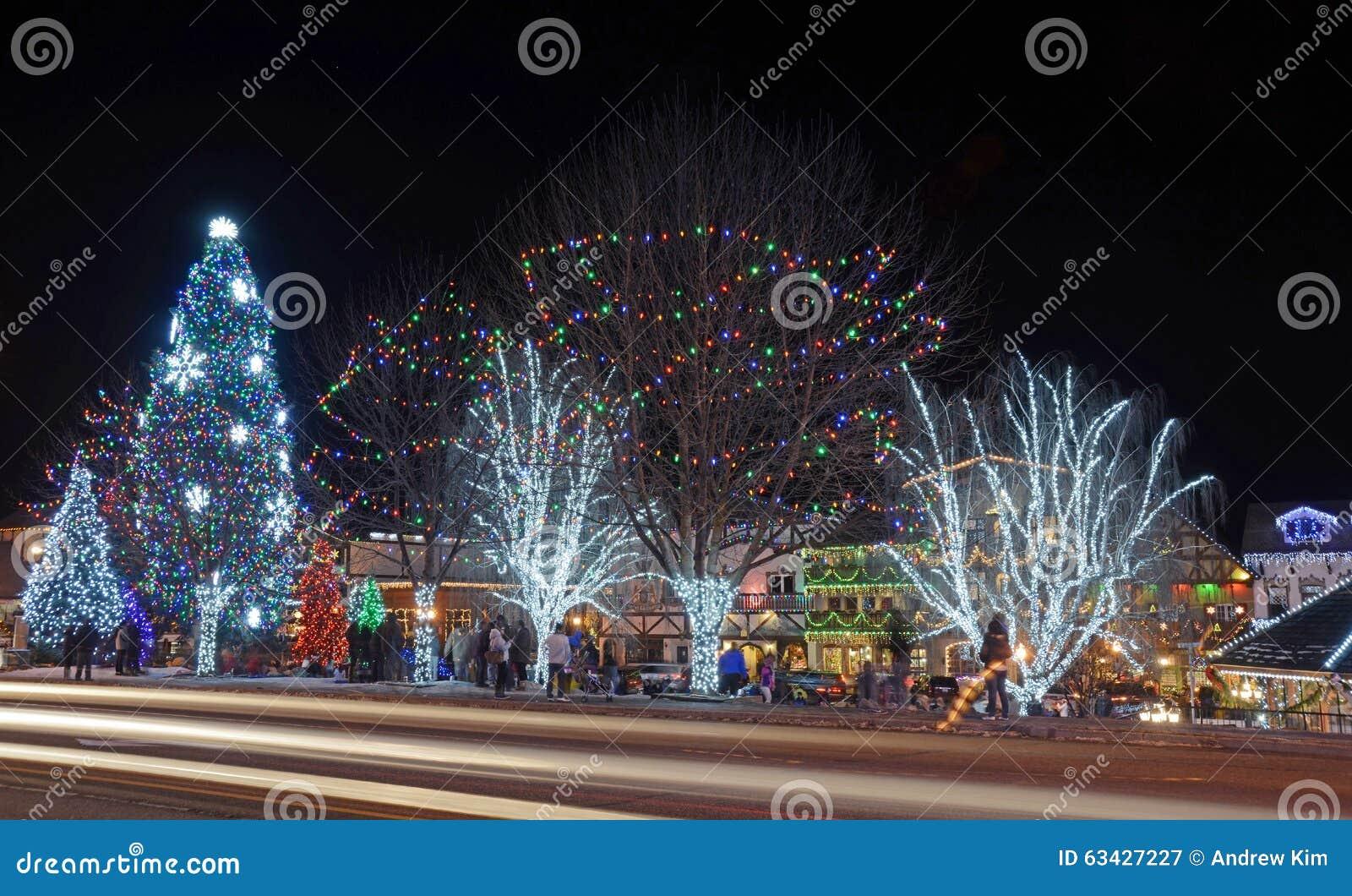 Kerstmisverlichting in Leavenworth