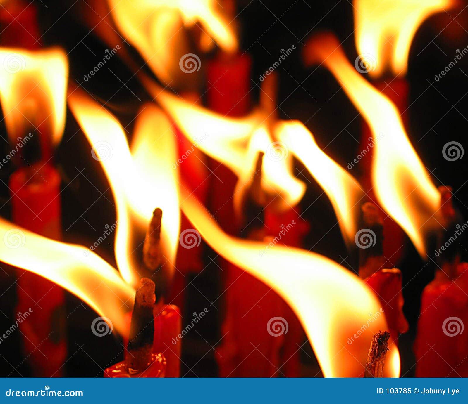 Kerze-Flamme