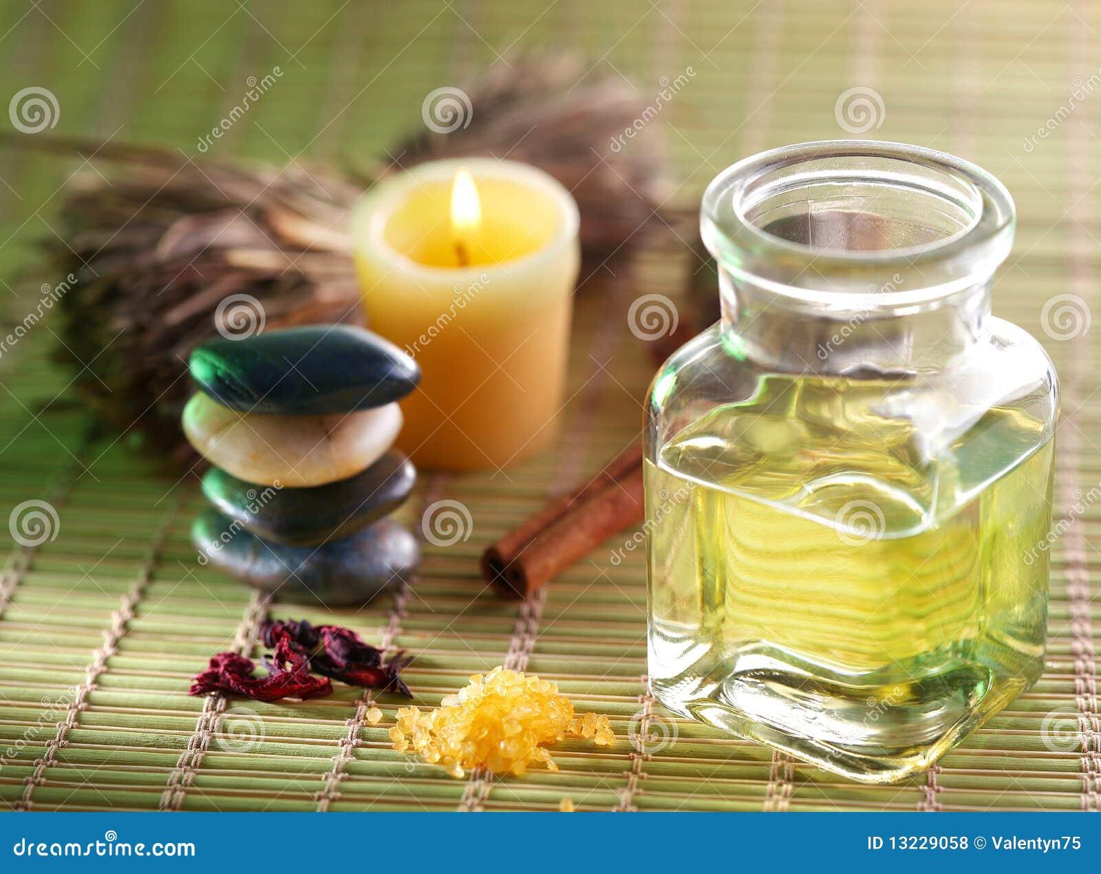 Kerze, Massageschmieröl und anderes