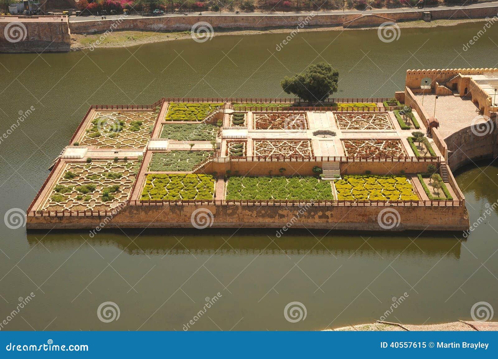Kesar Kyari Gardens From Amber Palace, Jaipur, India. Stock Image ...