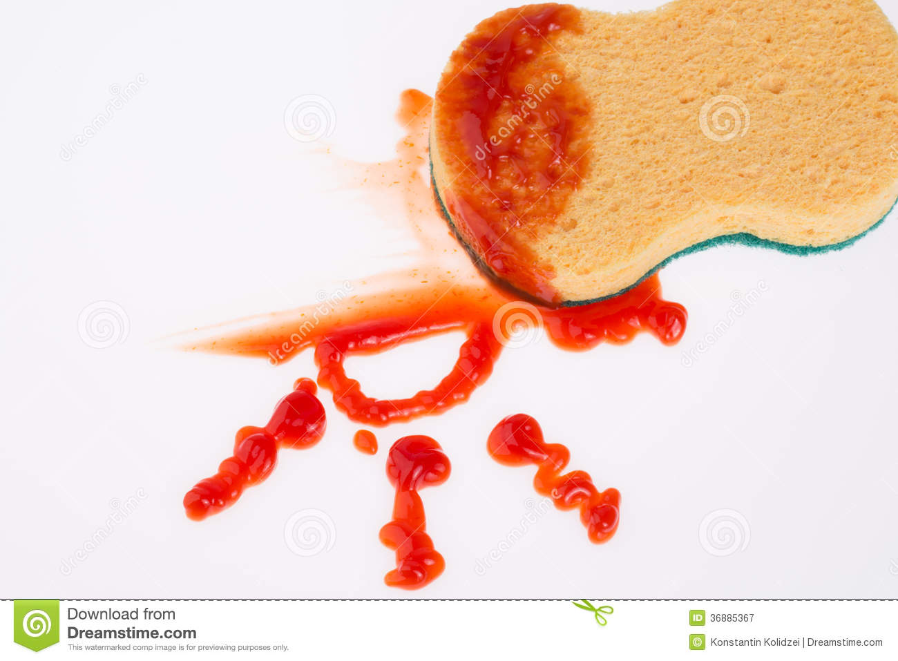 ketchup stain royalty free stock photography image 36885367. Black Bedroom Furniture Sets. Home Design Ideas