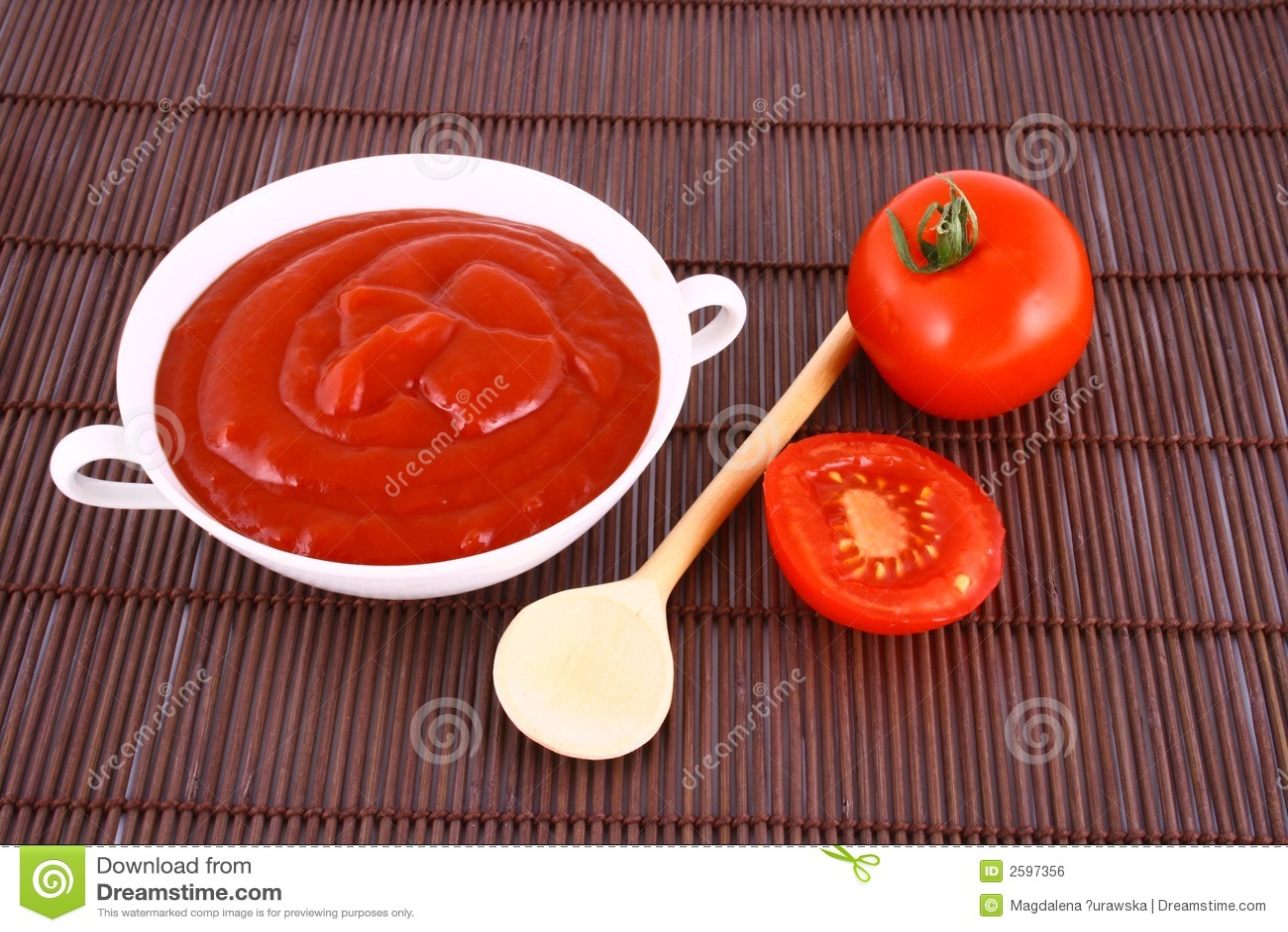 Ketchup-tomaat deeg