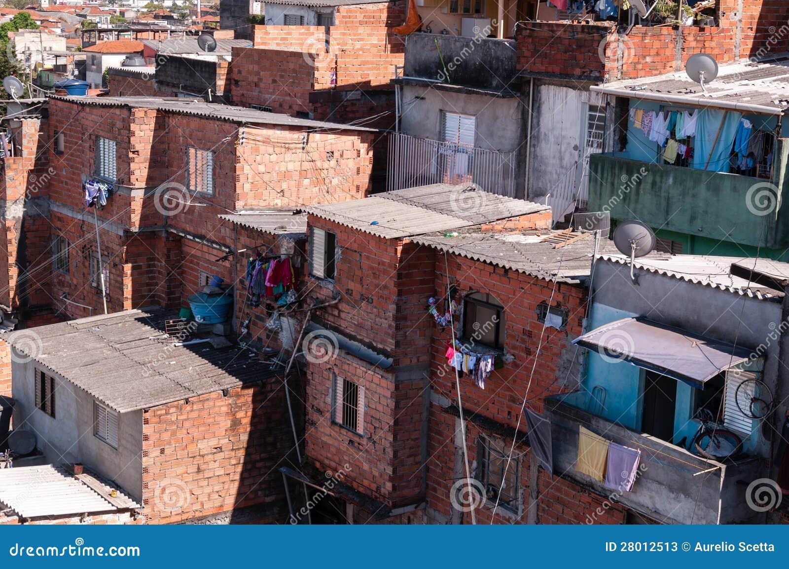 Keten in de krottenwijk in Sao Paulo