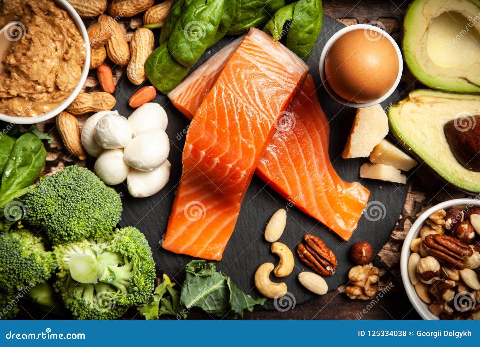 Keto de ingrediënten van het dieetvoedsel