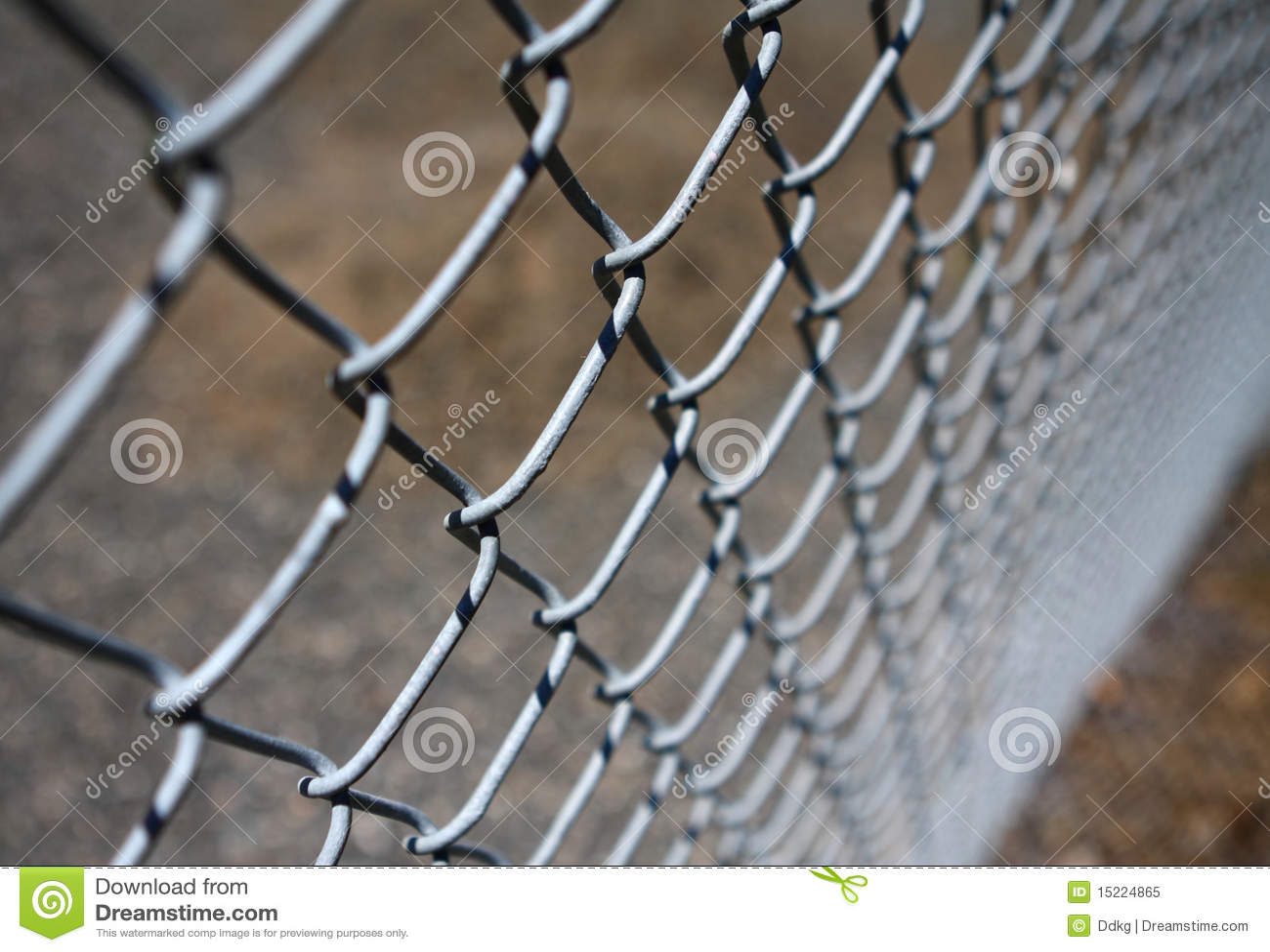 Kette-Link Zaun stockbild. Bild von enclose, makro, metall - 15224865