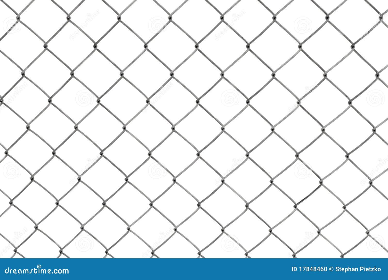 Kette Link Zaun Getrennt Auf Weiss Stockfoto Bild Von Rand Metall