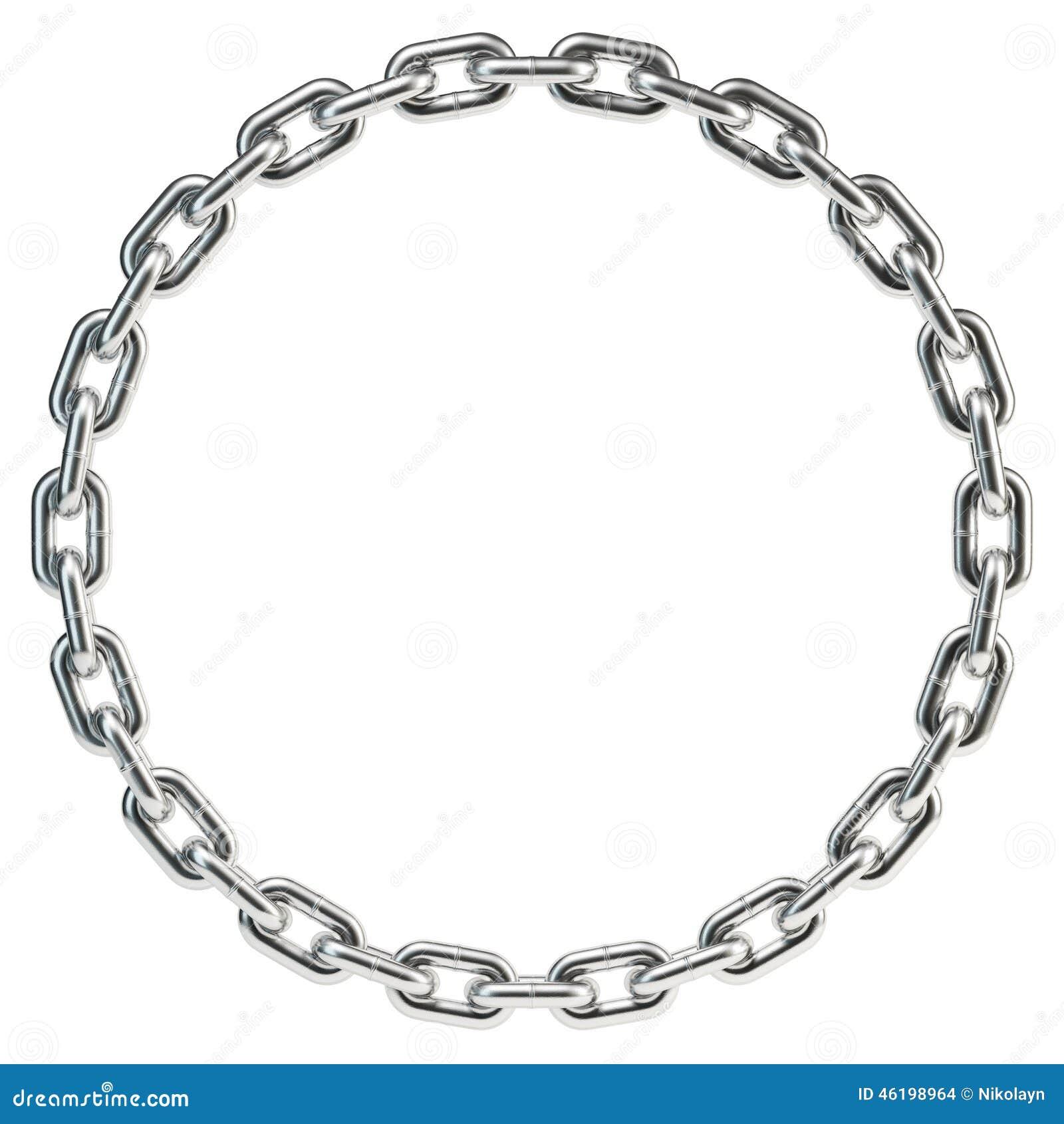 Kette Umwickelt In Einen Kreis Stock Abbildung