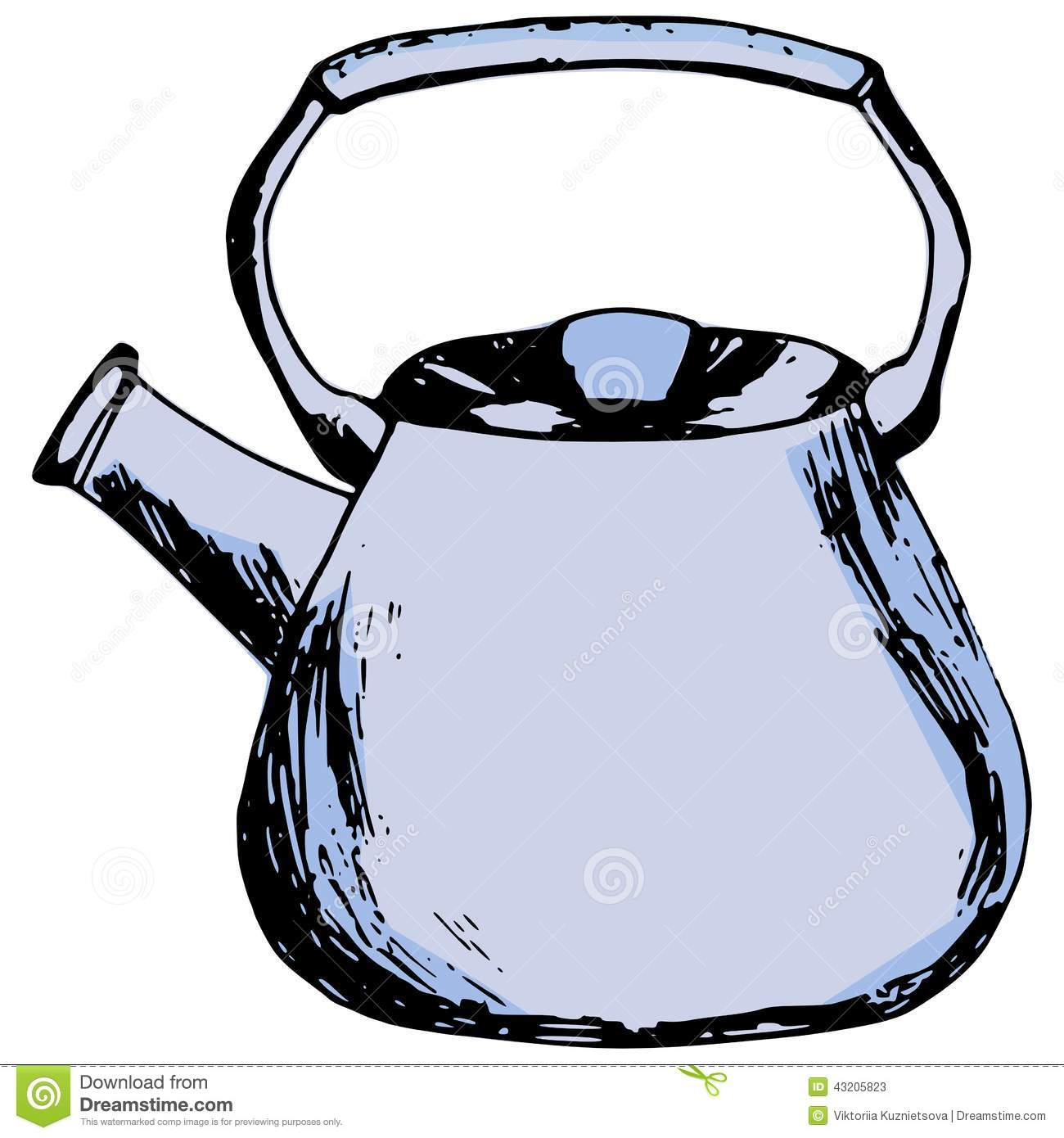 Download Kettle vektor illustrationer. Illustration av gammalt - 43205823