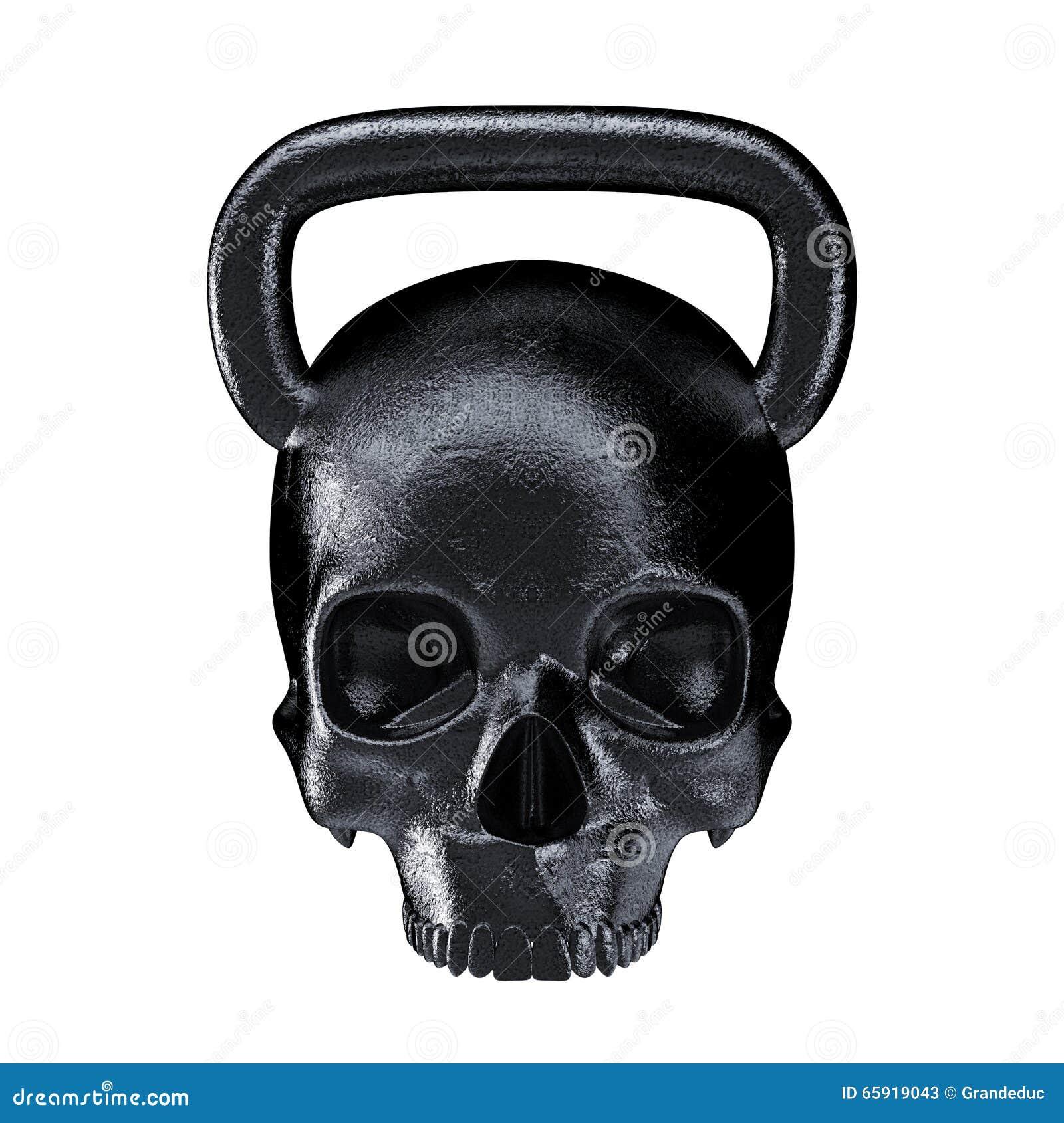 Kettlebell Skull Metal Stock Illustration