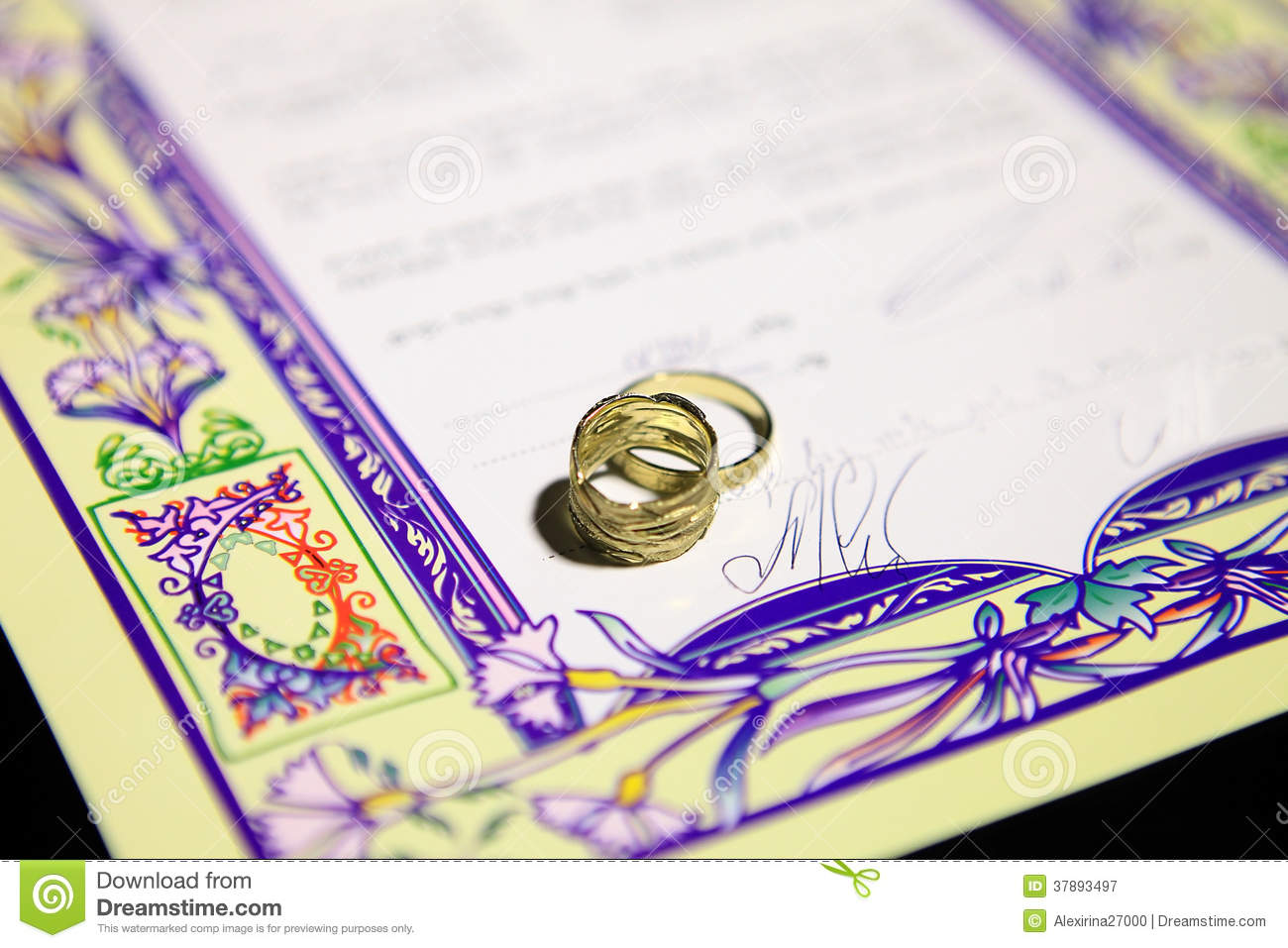 Jewish Wedding Ketubah Royalty Free Stock Image