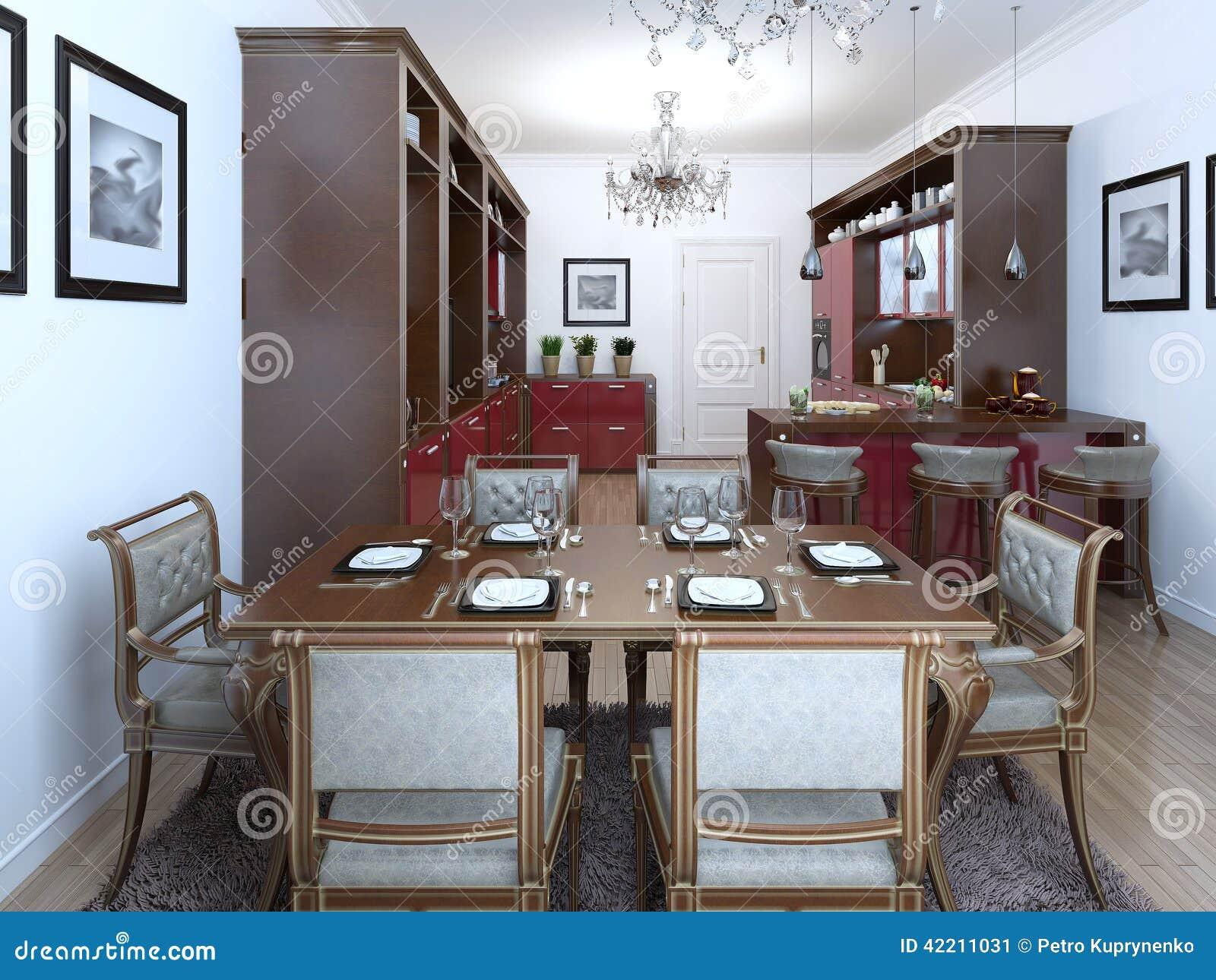 Art Deco Stijl : Keuken in de art deco stijl stock illustratie illustratie