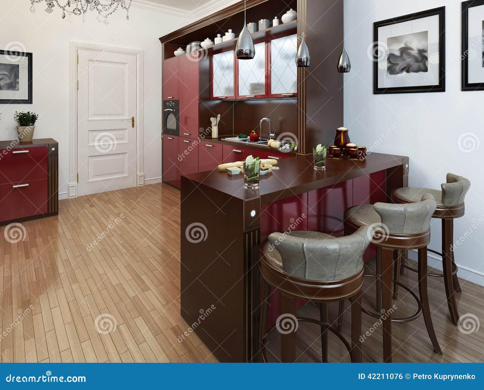 Keuken in de art deco stijl stock illustratie afbeelding 42211076 - Deco stijl chalet ...