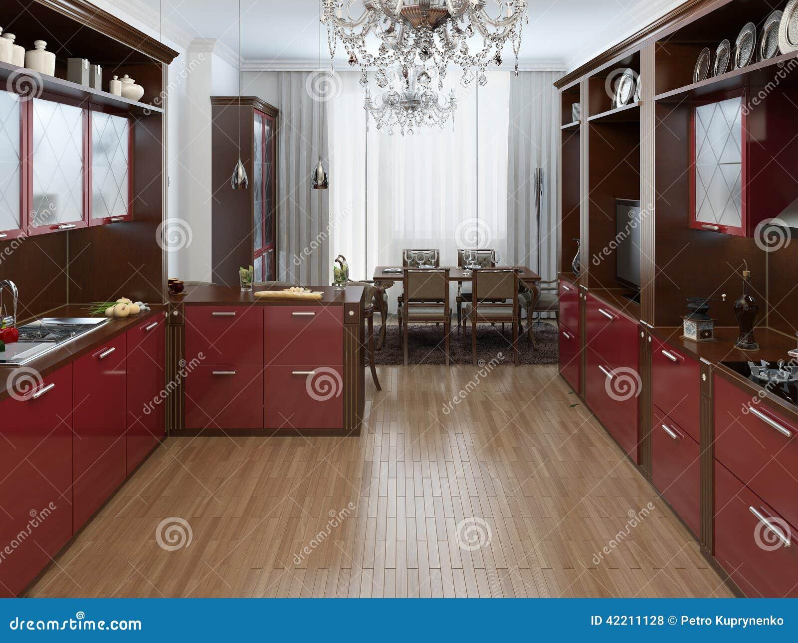 Keuken in de art deco stijl stock illustratie illustratie