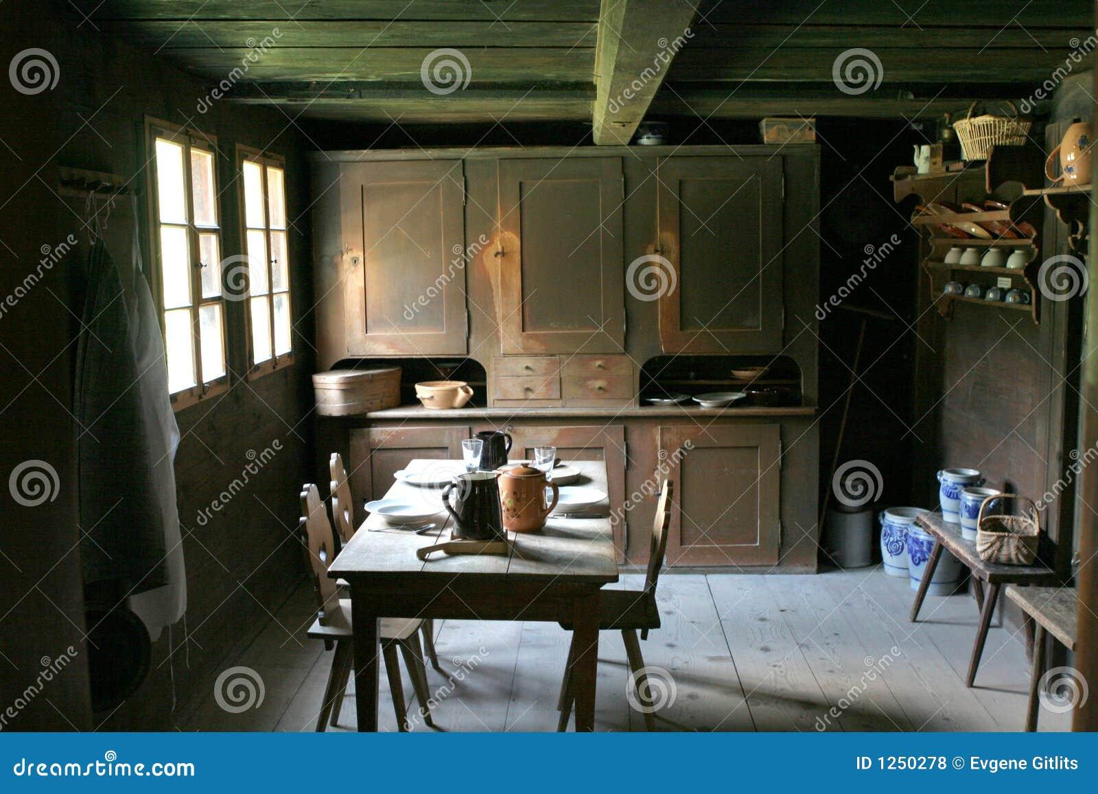 Keuken in de oude stijl royalty vrije stock foto 39 s afbeelding 1250278 - Keuken in het oude huis ...