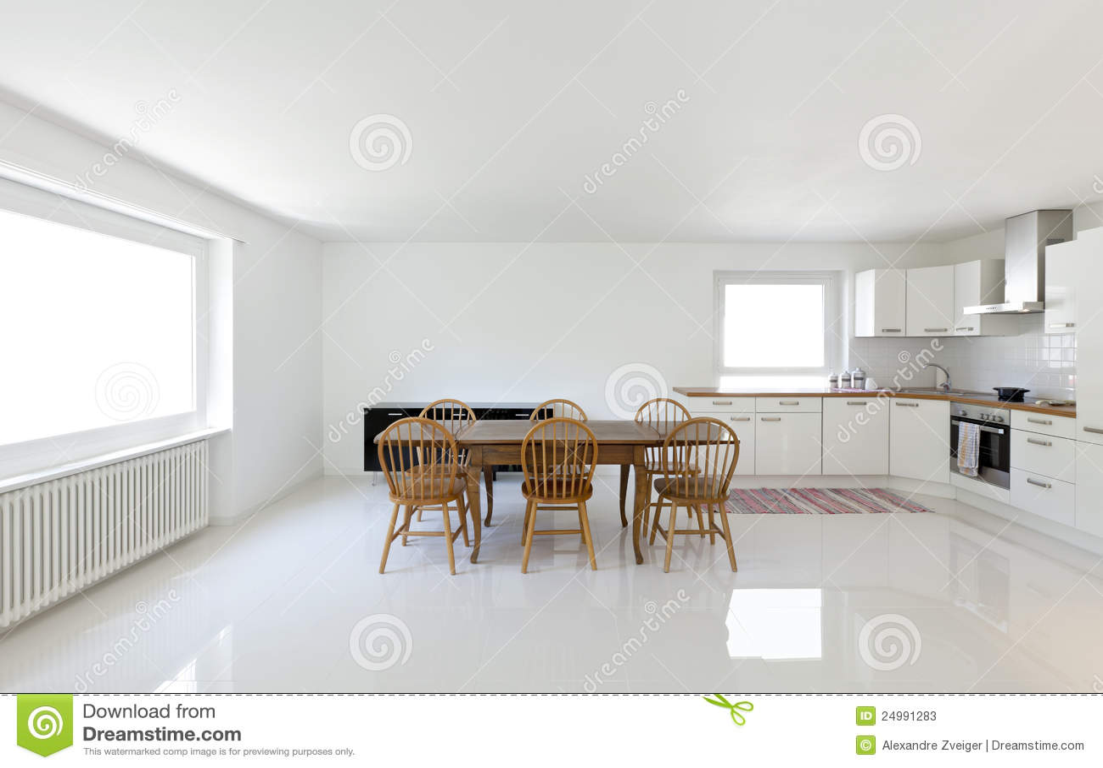 Keuken eettafel stock afbeelding afbeelding bestaande uit marmer