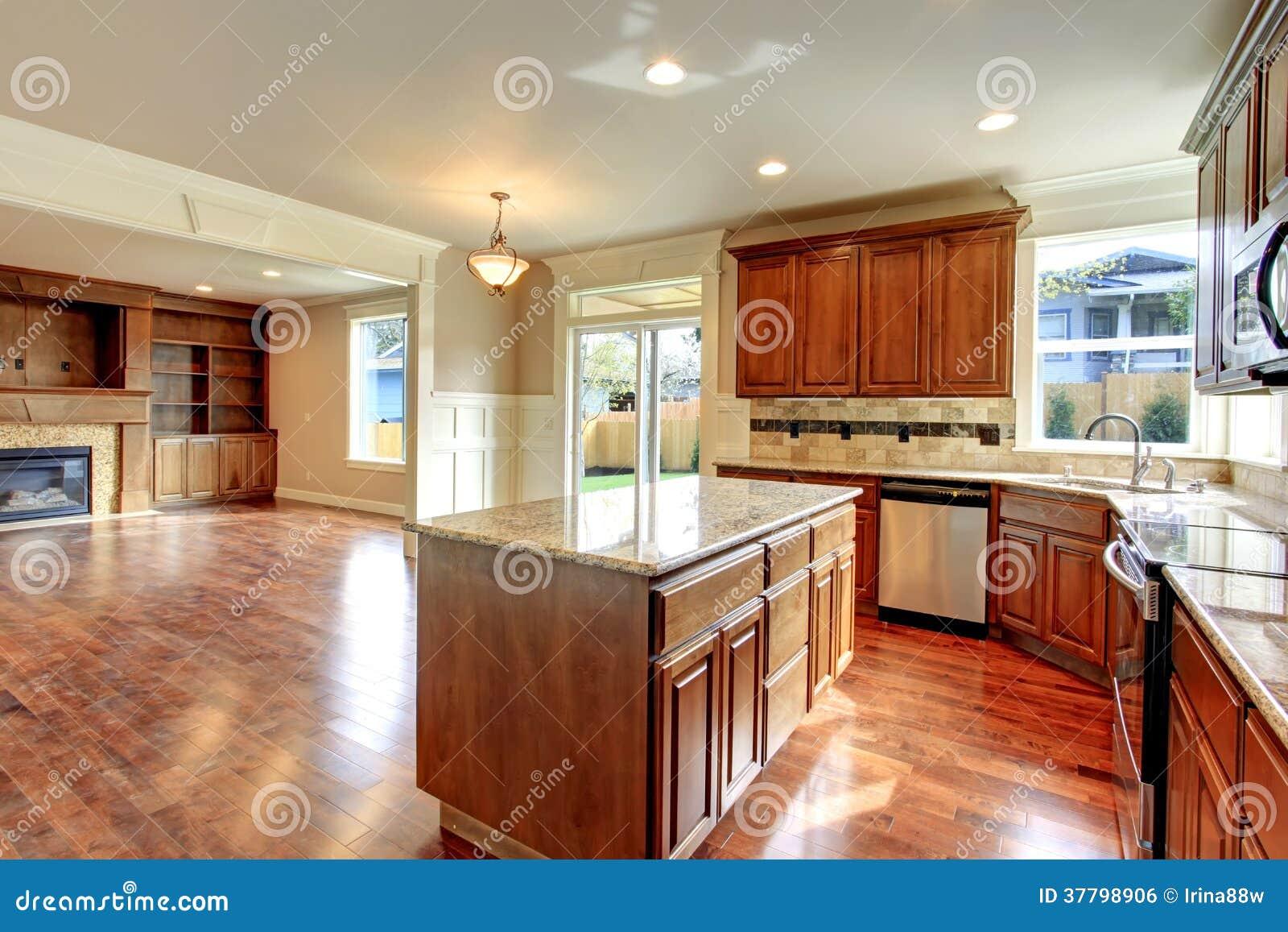 Keuken en woonkamer open ontwerpidee stock foto afbeelding 37798906 - Keuken open concept ...