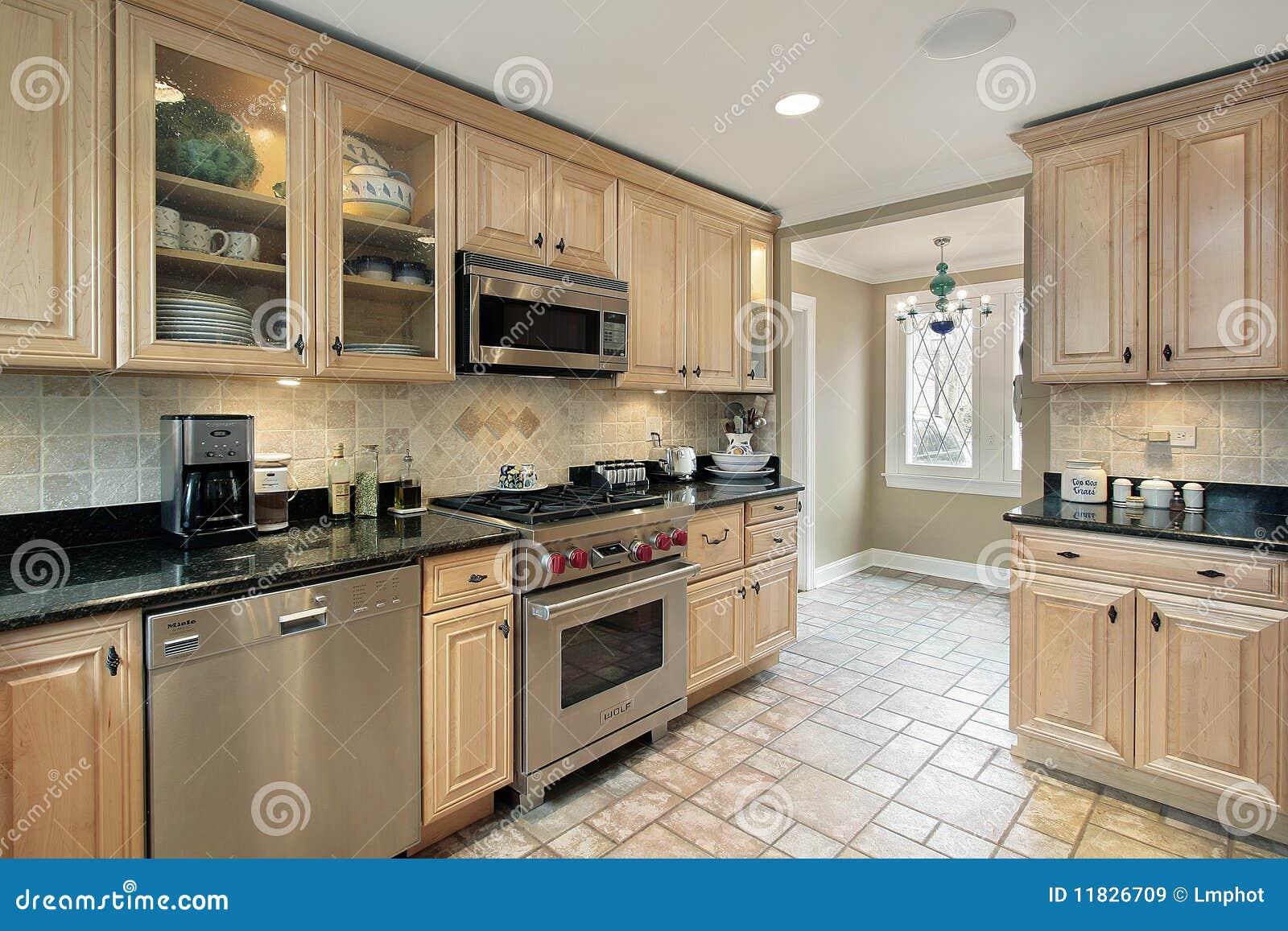 Keuken met eiken cabinetry royalty vrije stock afbeeldingen afbeelding 11826709 - Keuken met teller ...