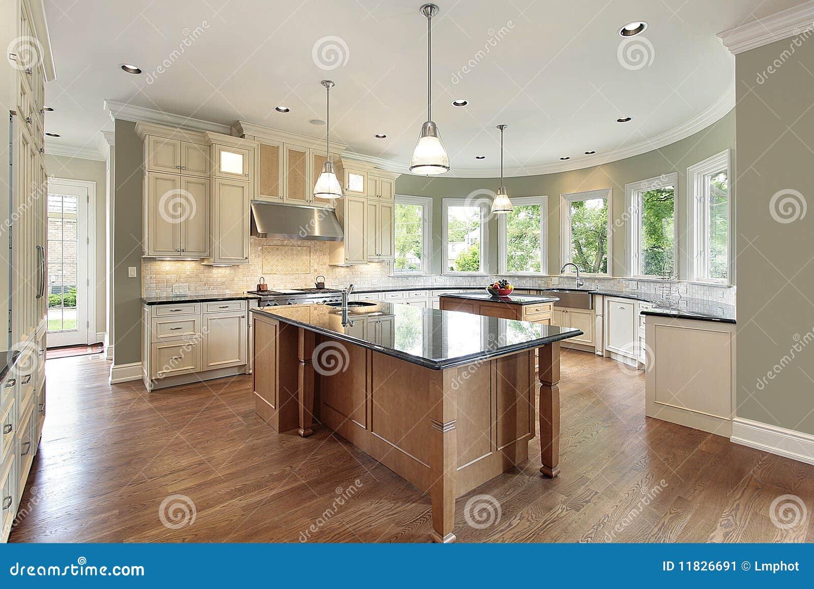 Keuken Met Gebogen Muren Stock Afbeelding - Afbeelding: 11826691