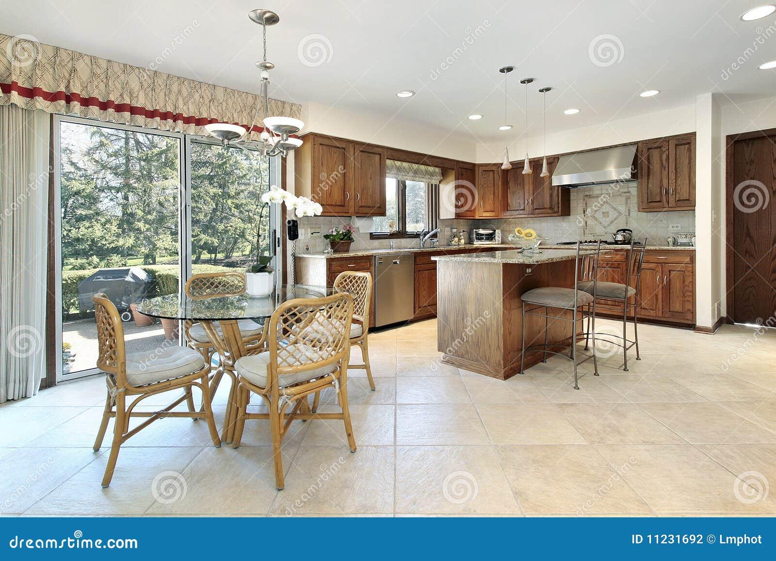 Keuken met houten cabinetry stock foto afbeelding 11231692 - Keuken met teller ...