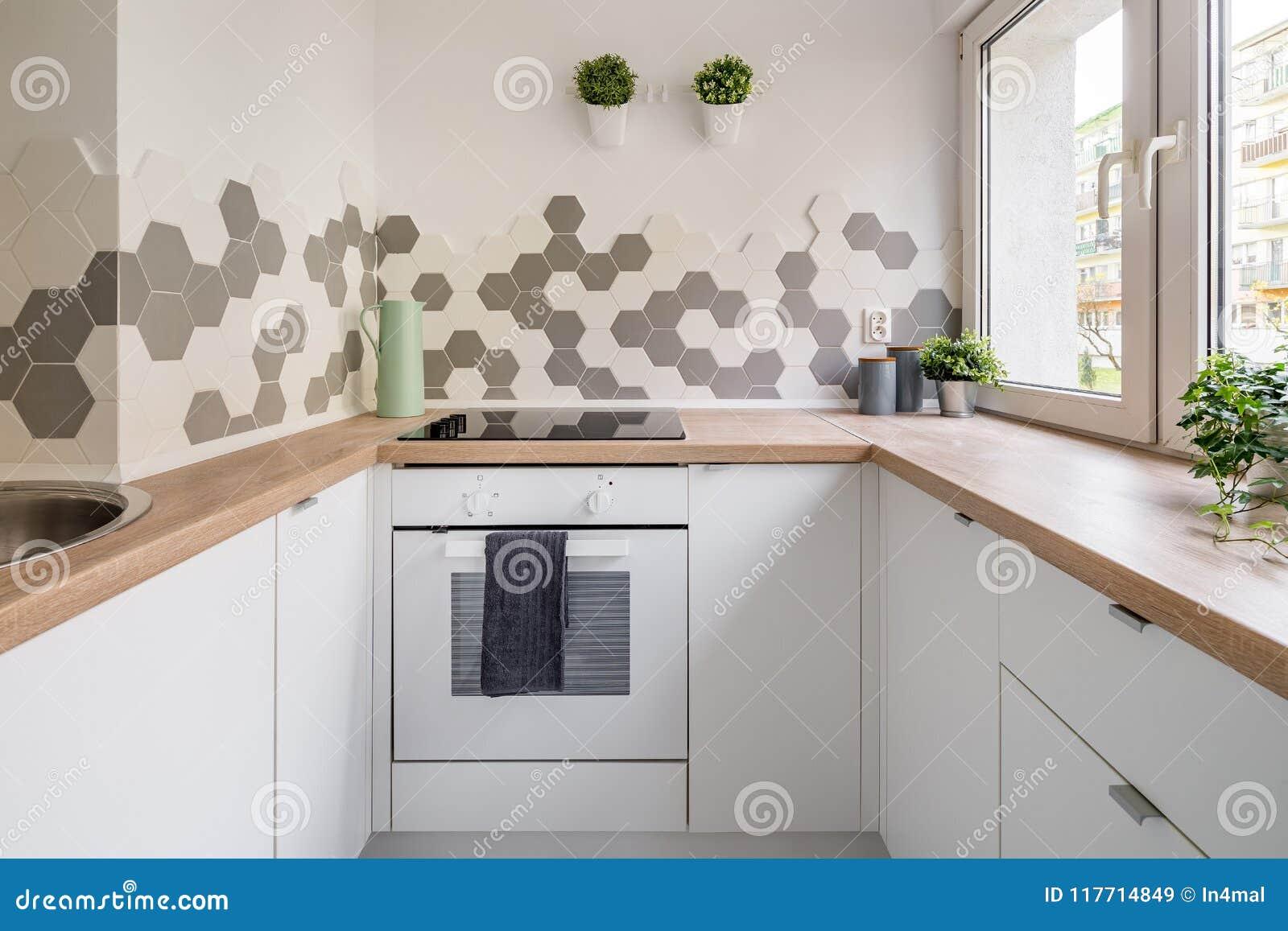 Keuken Interieur Scandinavisch : Keuken in skandinavische stijl stock afbeelding afbeelding