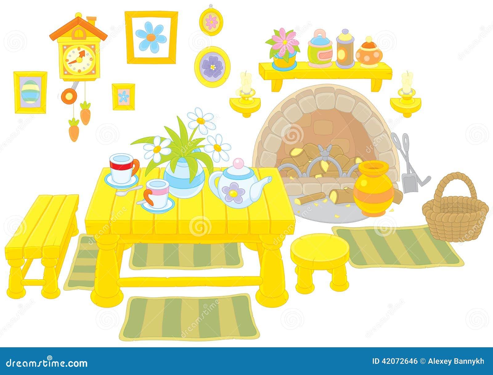 Achtergrond Witte Keuken : Keuken Van Een Landelijk Huis Vector ...