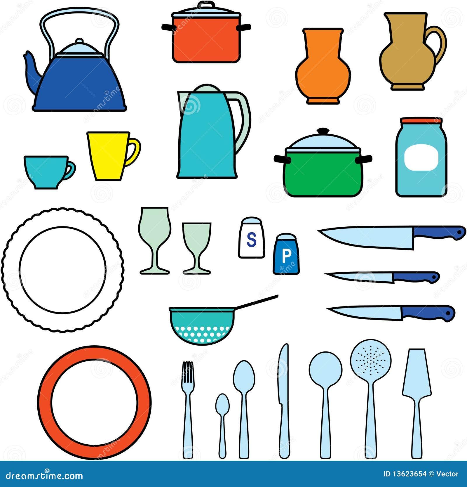 Keukengerei keukengerei stock afbeeldingen afbeelding 13623654 - Dibujos de cocina ...