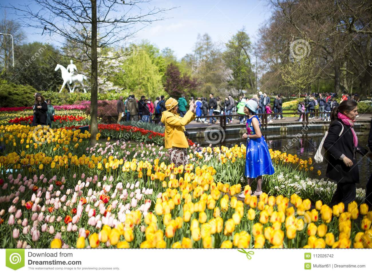 The Keukenhof The Flower Garden In The Netherlands Editorial