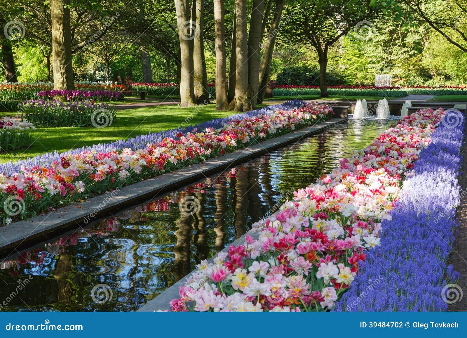 Keukenhof Largest Flower Garden In Europe Holland Stock Photo
