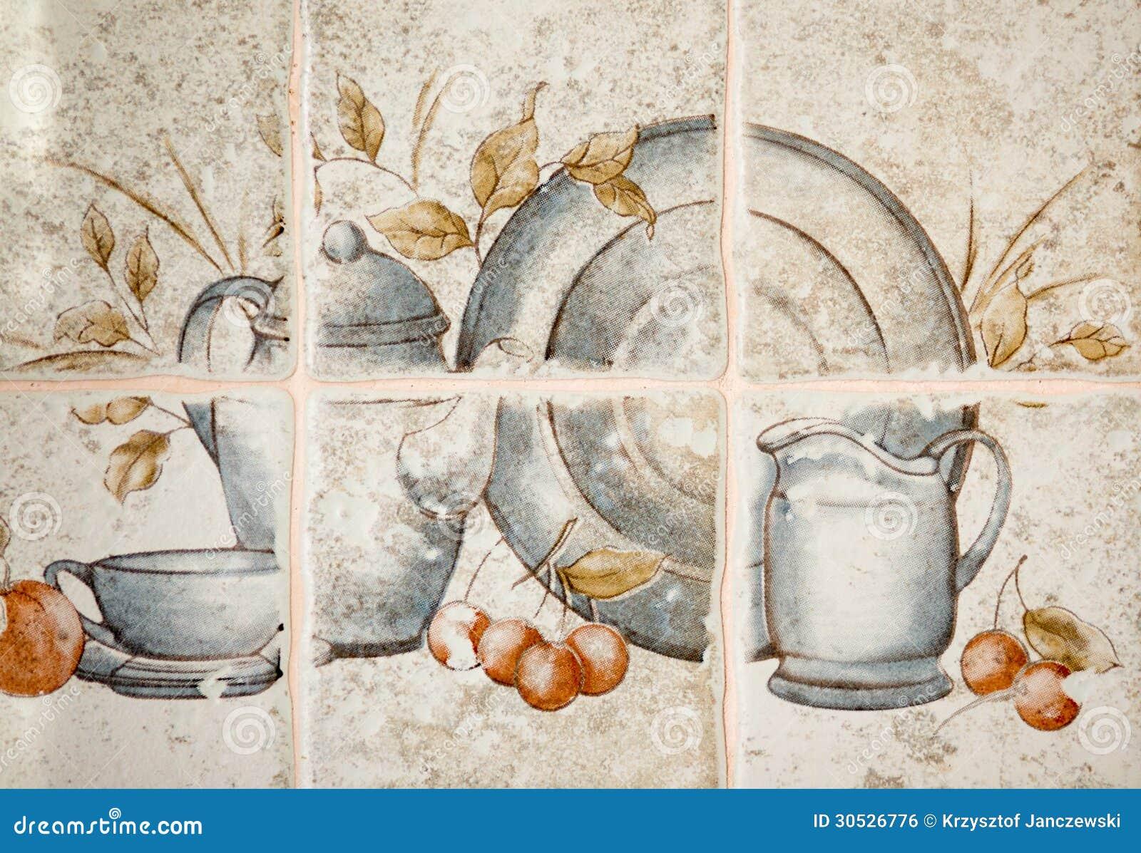 keukentegels met afbeeldingen : Keukentegels Stock Foto Afbeelding Bestaande Uit Patroon 30526776