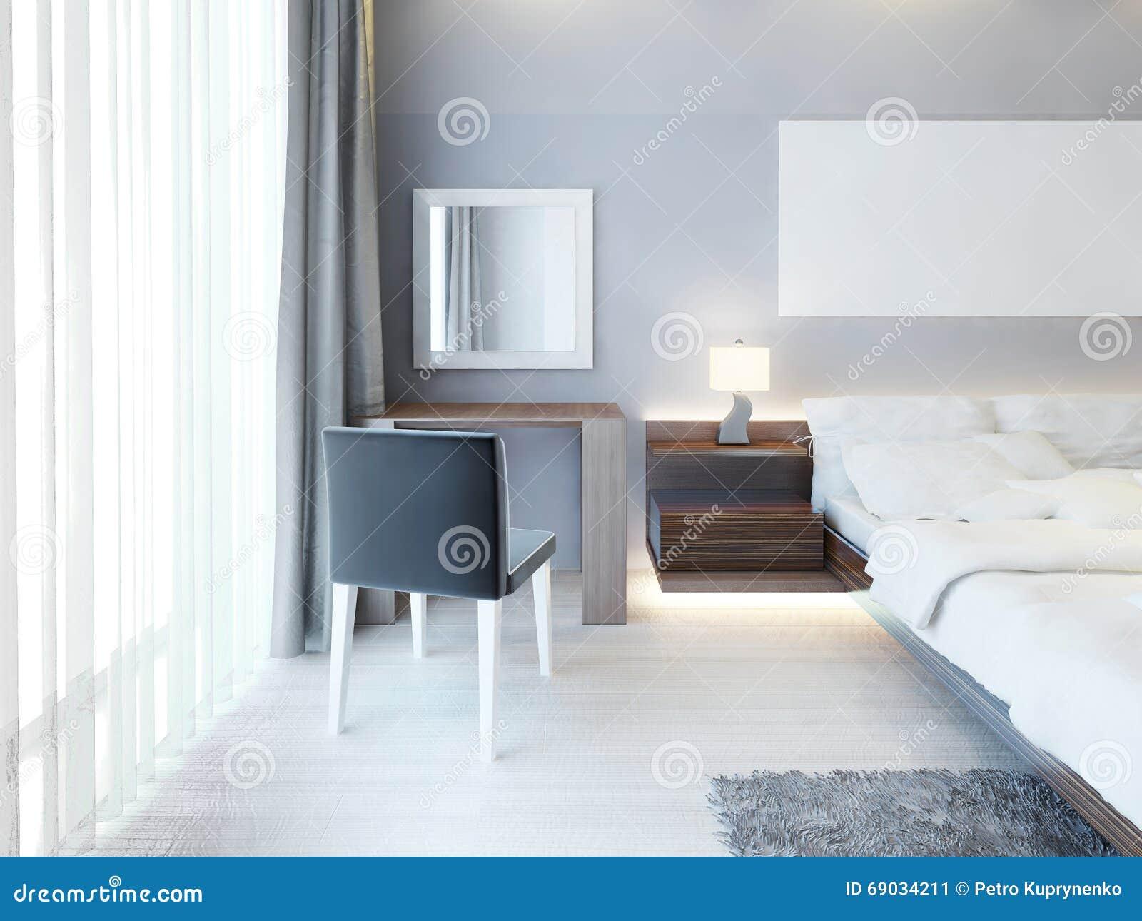 Toilettafel Met Spiegel Wit.Keurige Toilettafel Met Een Spiegel In Een Wit Kader In Moderne B