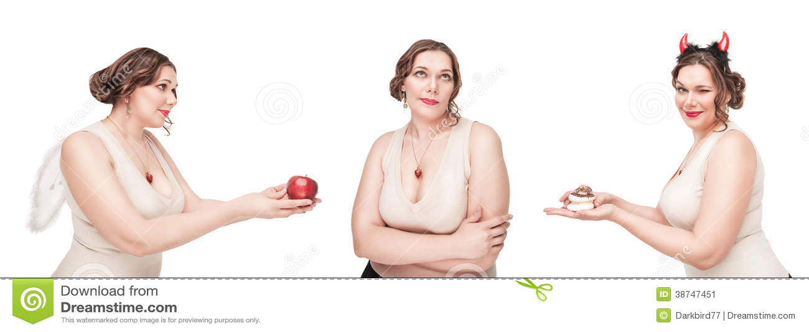 Keus tussen gezond en ongezond voedsel
