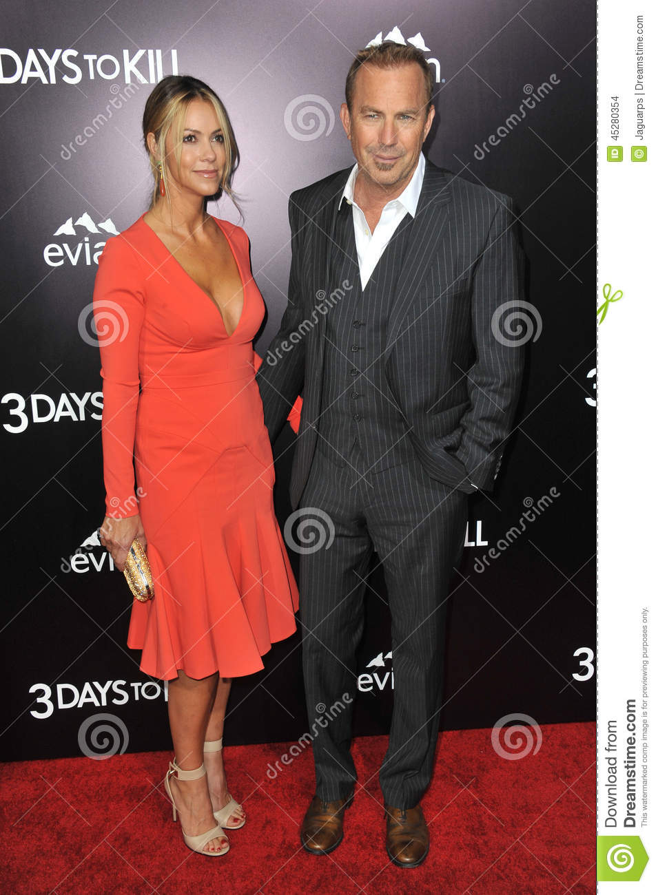 Kevin Costner & Christine Baumgartner Editorial Stock Image - Image ...