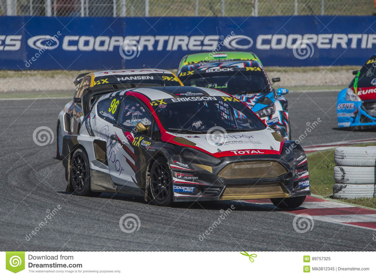 kevin eriksson barcelone fia world rallycross image ditorial image du chemin d but 89757325. Black Bedroom Furniture Sets. Home Design Ideas