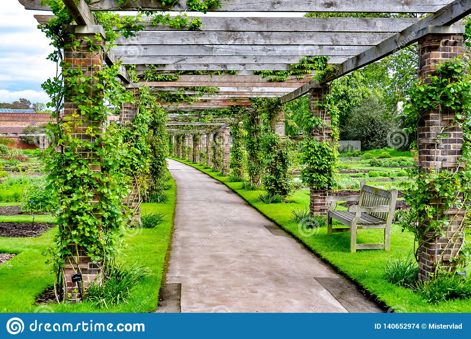 Kew Botanical Gardens, London, UK Stock Photo - Image of environment ...