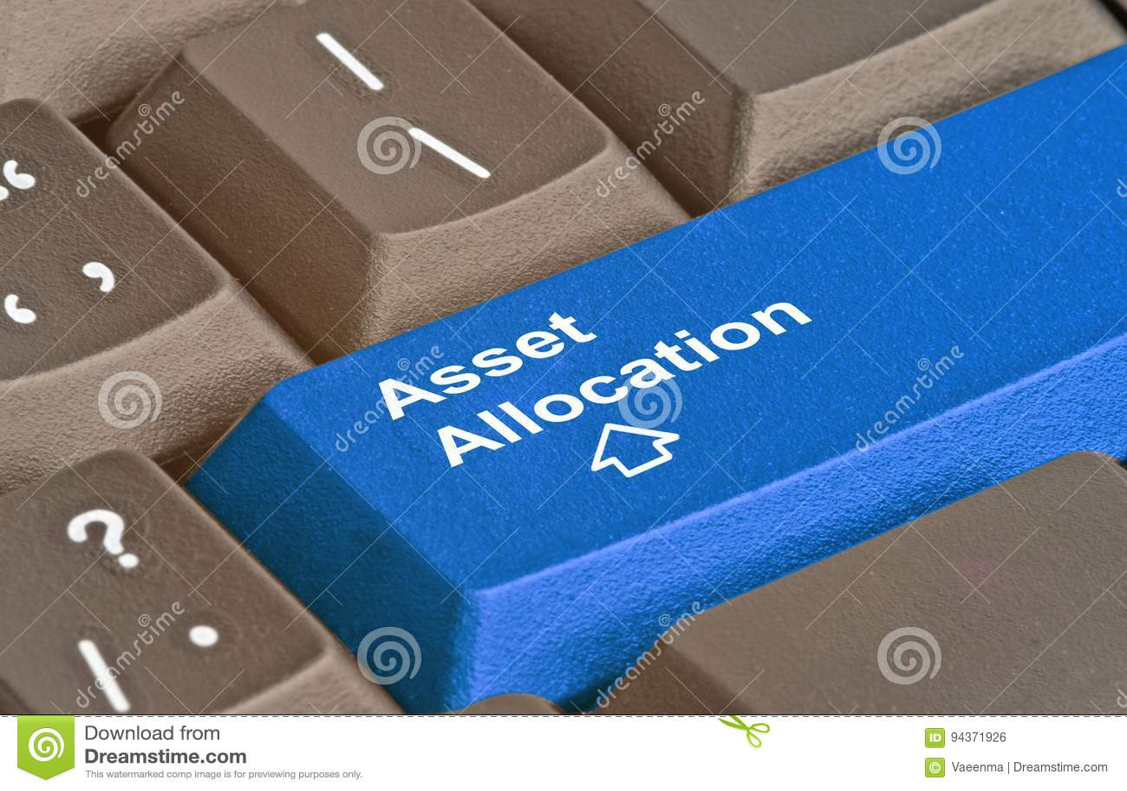 Key for asset allocation