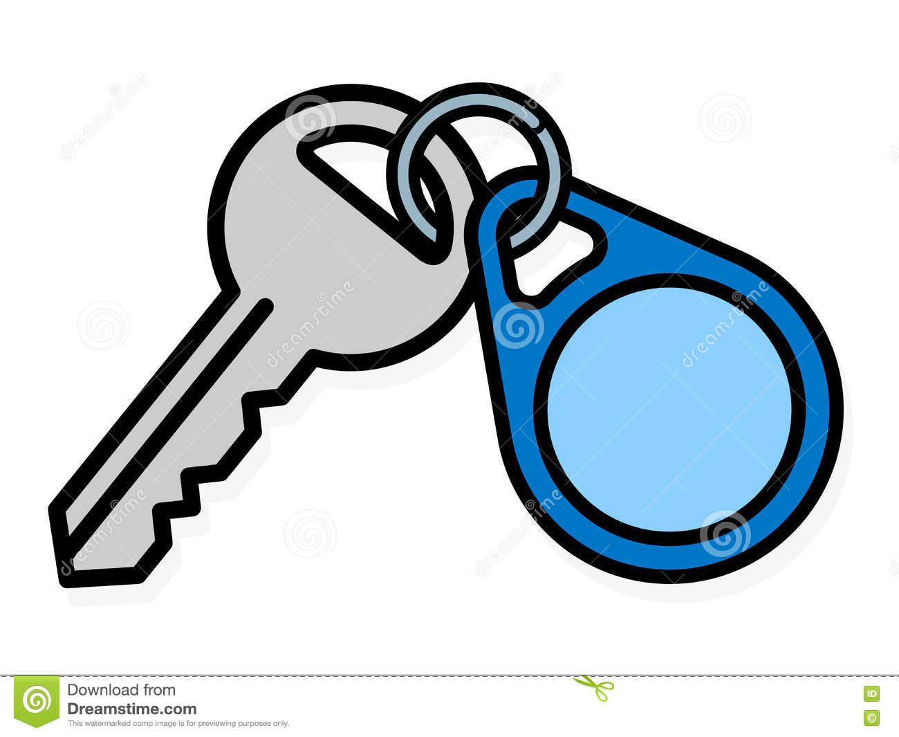 key and badge with copy space stock vector illustration of clipart