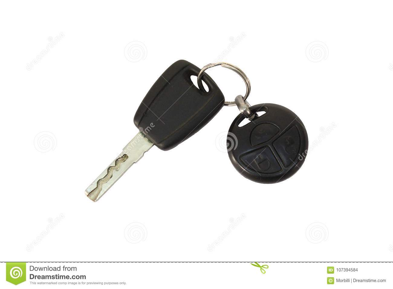Key Car With Remote Isolated Stock Photo Image Of Remote