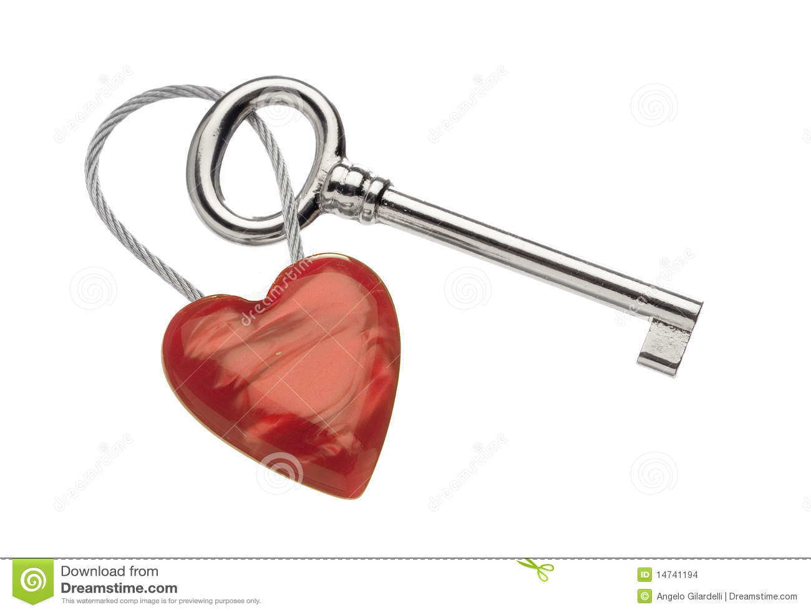 Key cirkel för hjärta