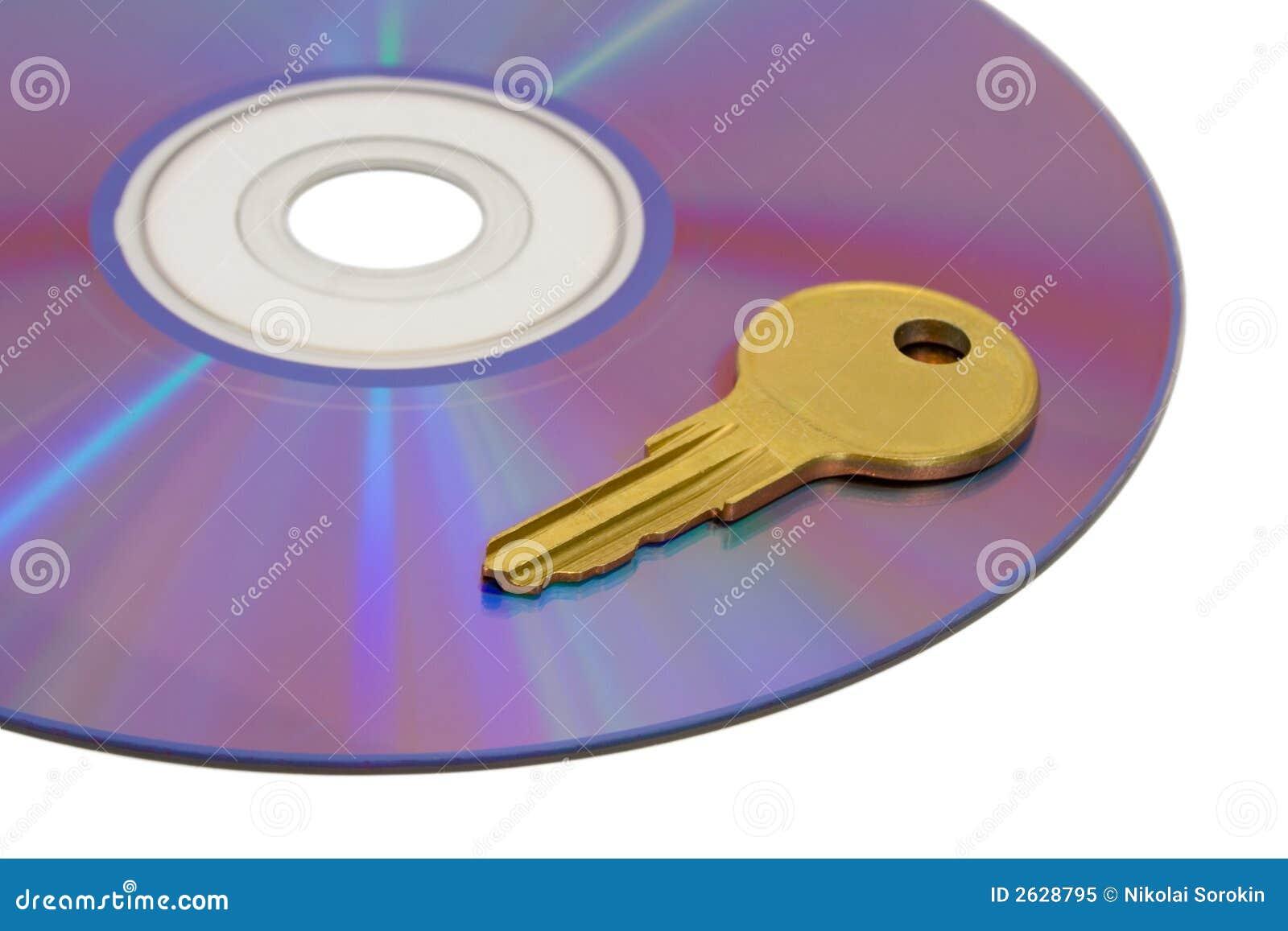 Key on computer cd