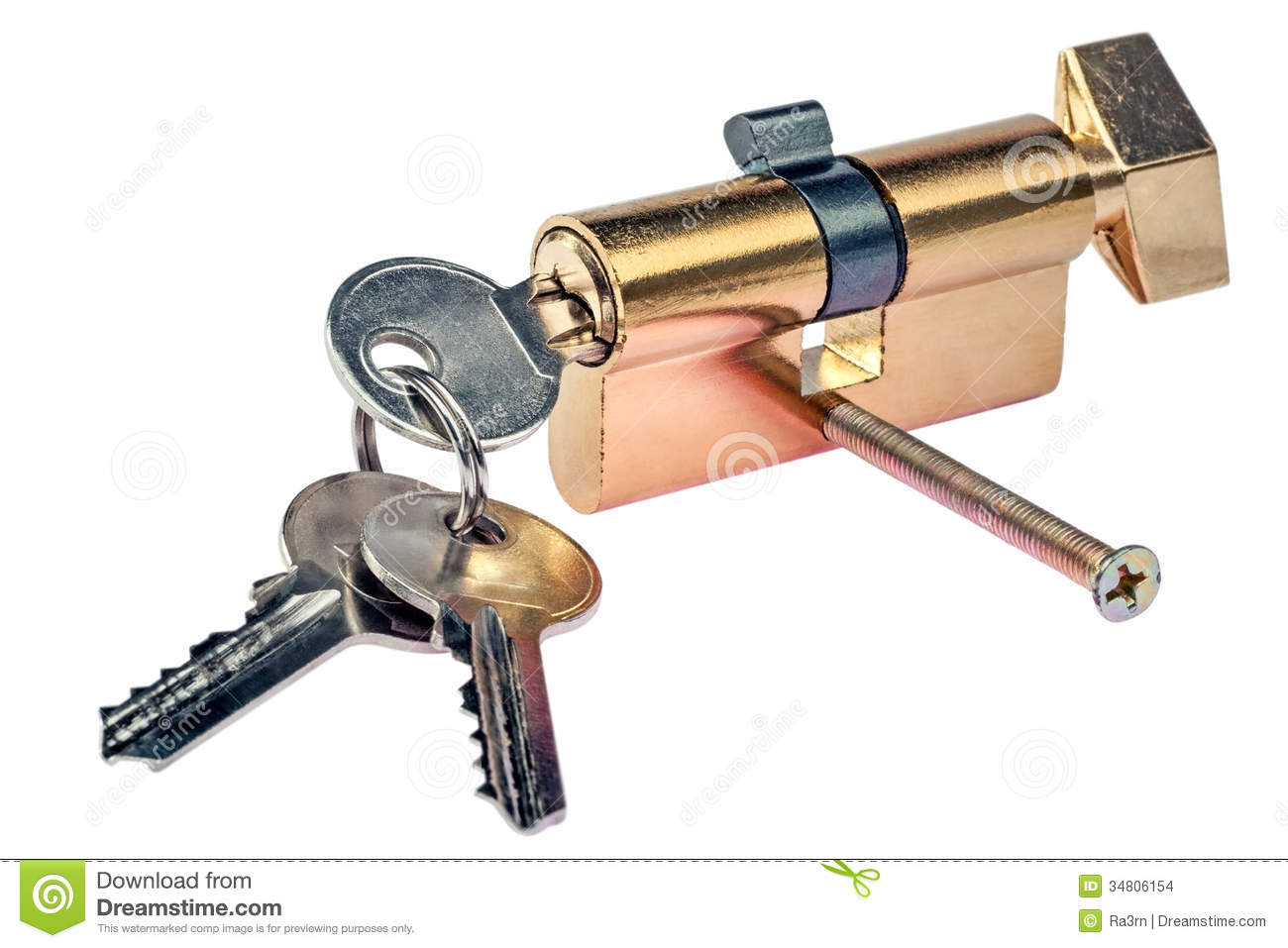 Key And Door Lock Stock Photo Image Of Gold House