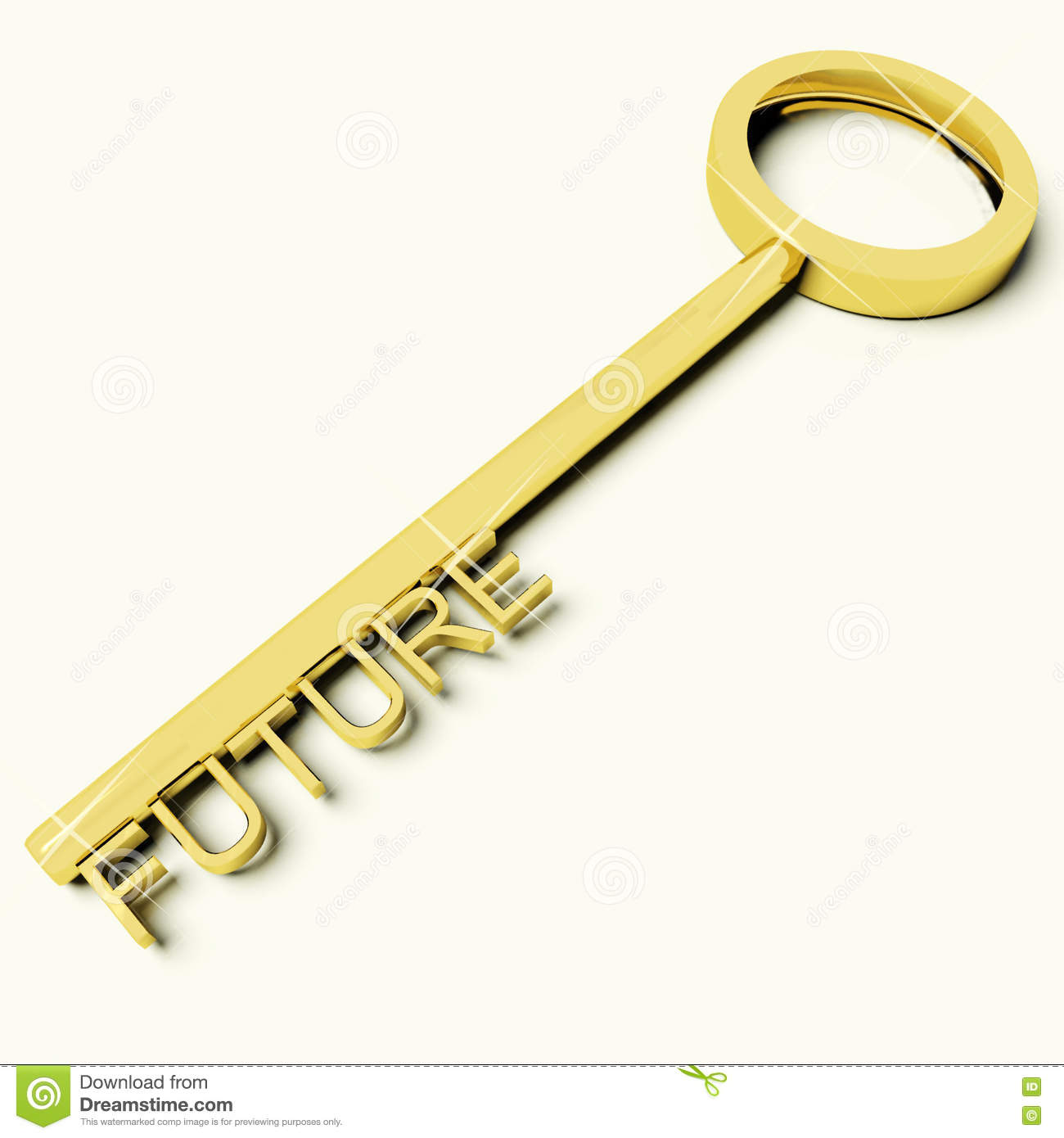 Key With Future Text As Symbol For Destiny Or Evolution Stock