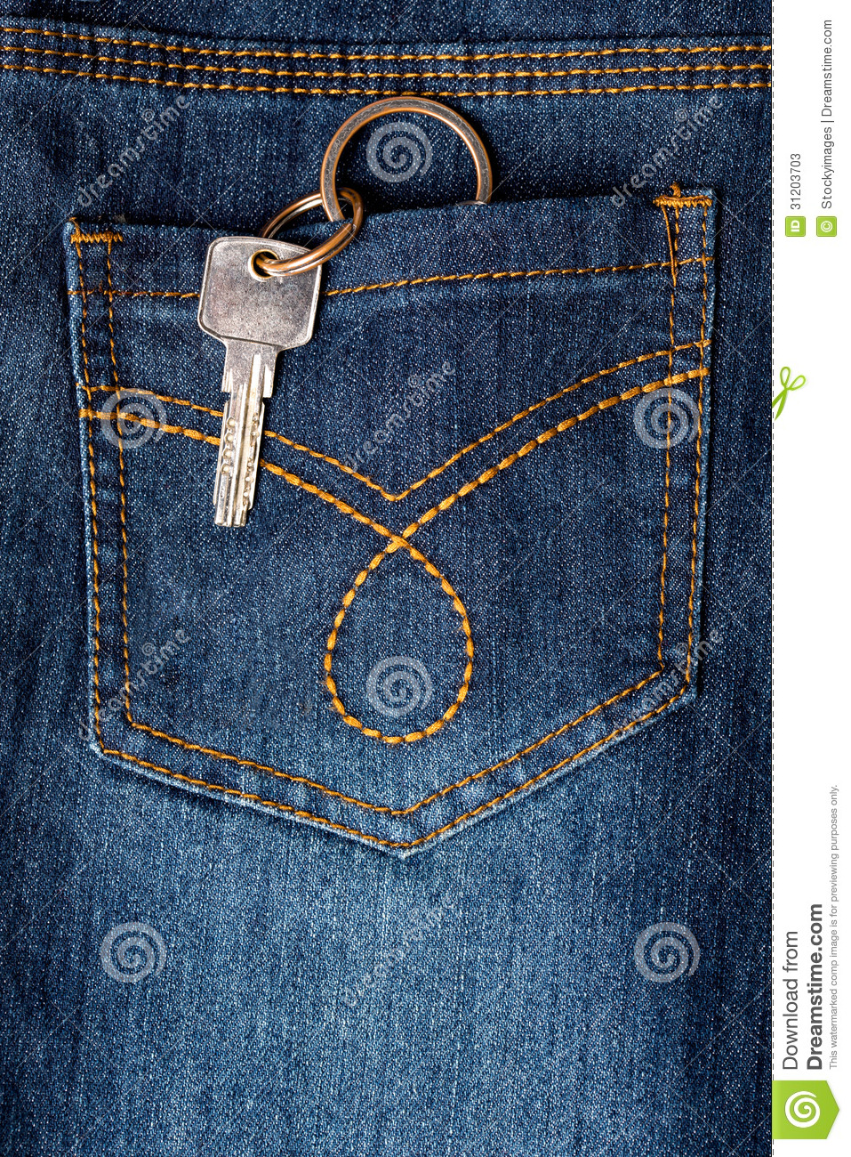 Key Hanging Out Of Back Pocket Of A Jeans Stock ...