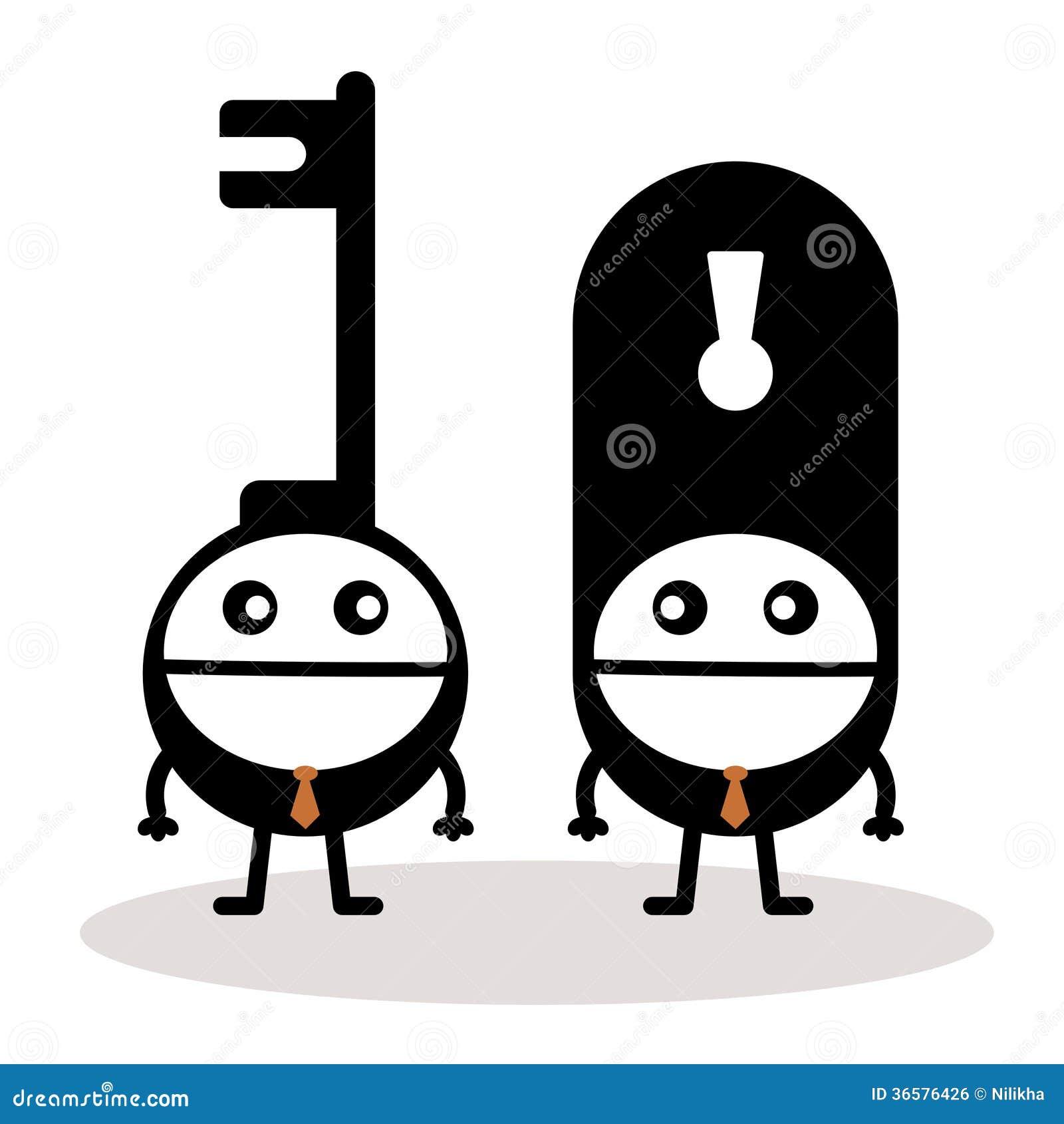 Heads lock and key