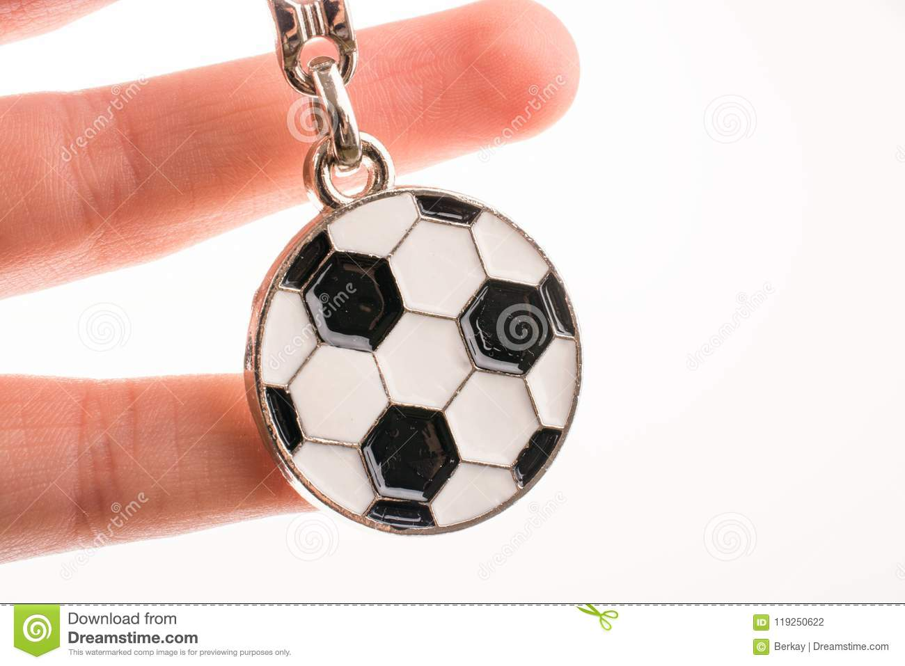 Key Holder With A Soccer Ball In Hand Stock Photo - Image of stadium ... 31c47b966