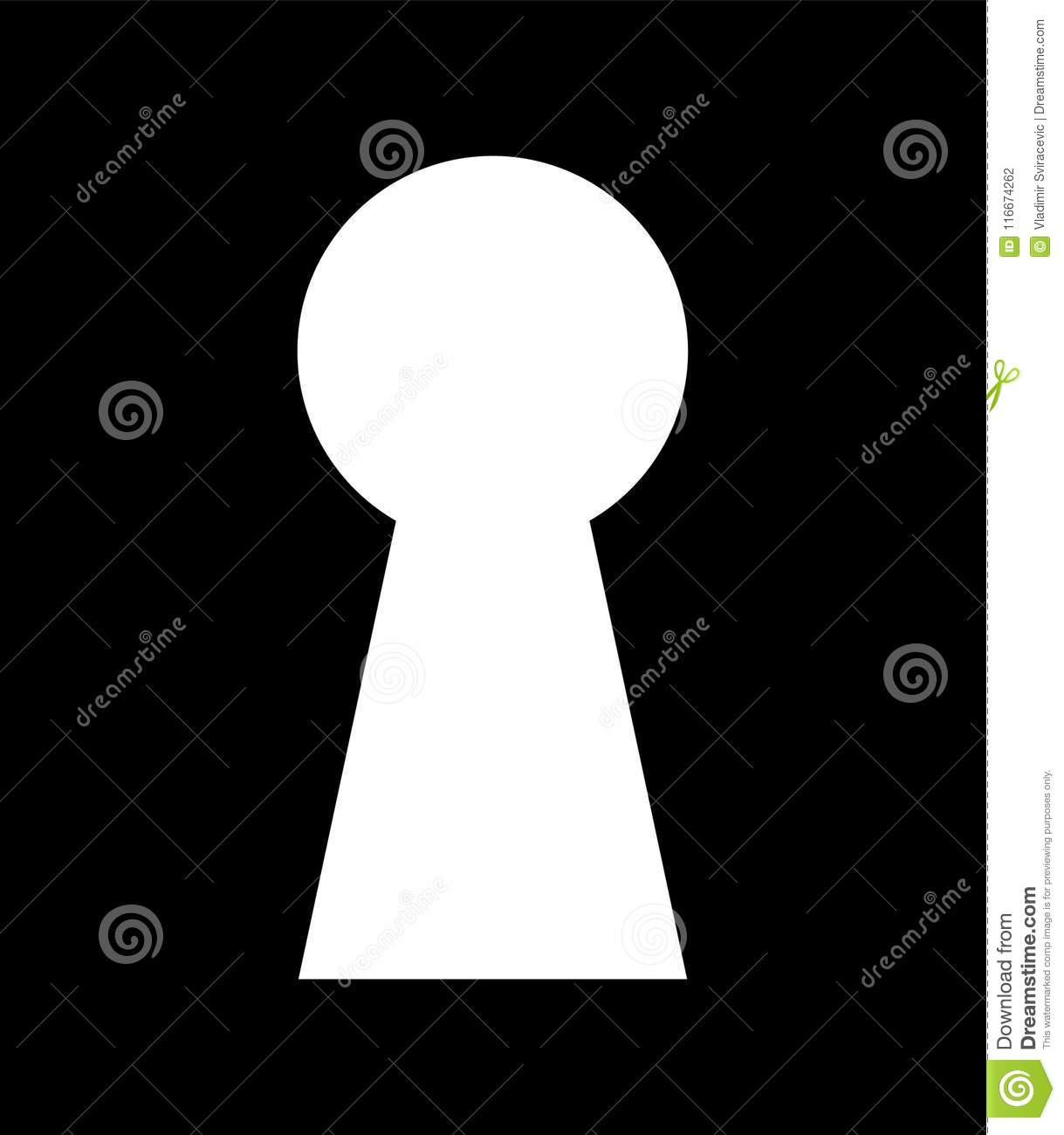 Key Hole Background Vector Security Symbol Protect Property Stock