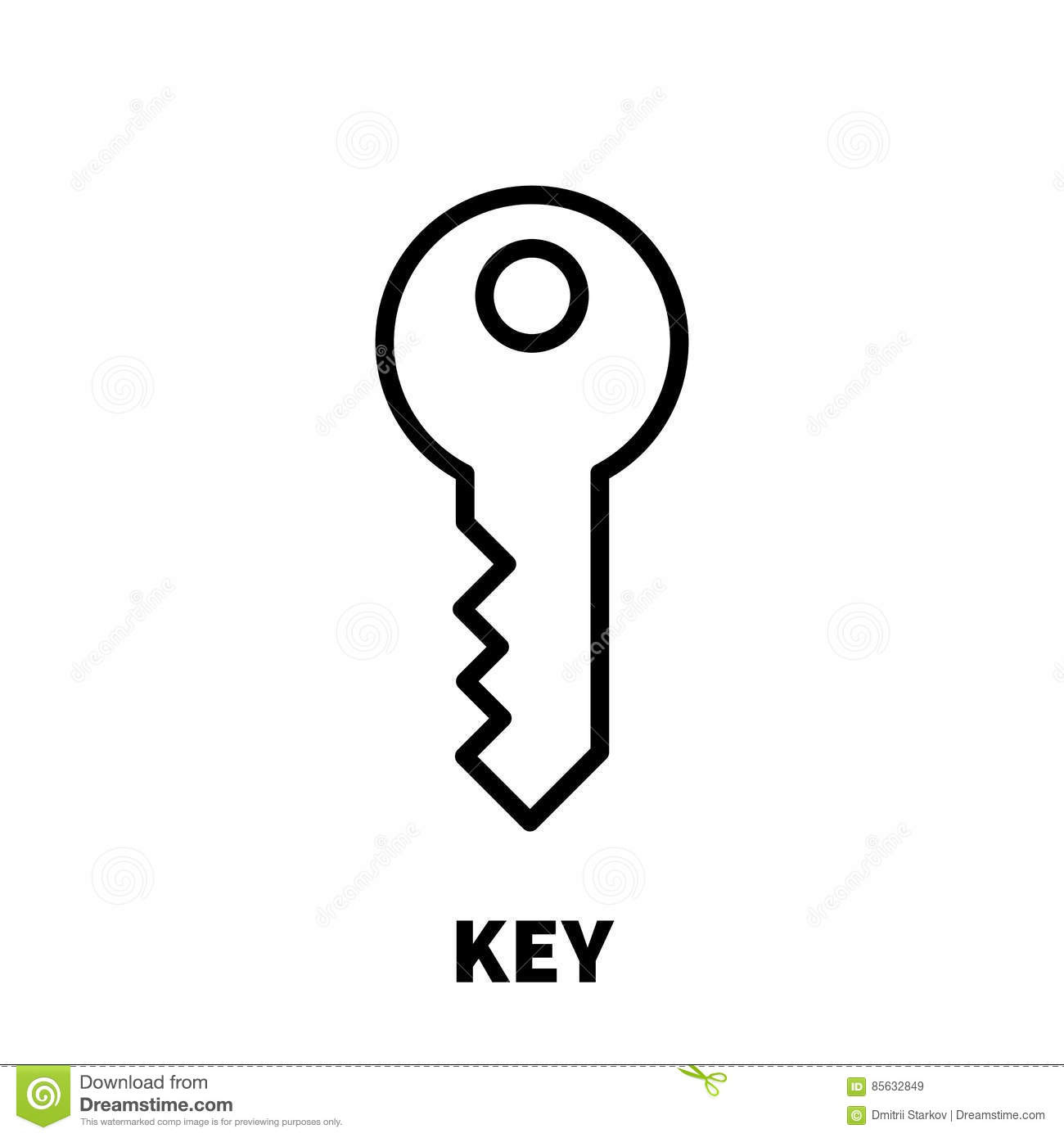 Key icon or logo in modern line style stock vector image 85632849 - Key of create perfect contemporary style ...