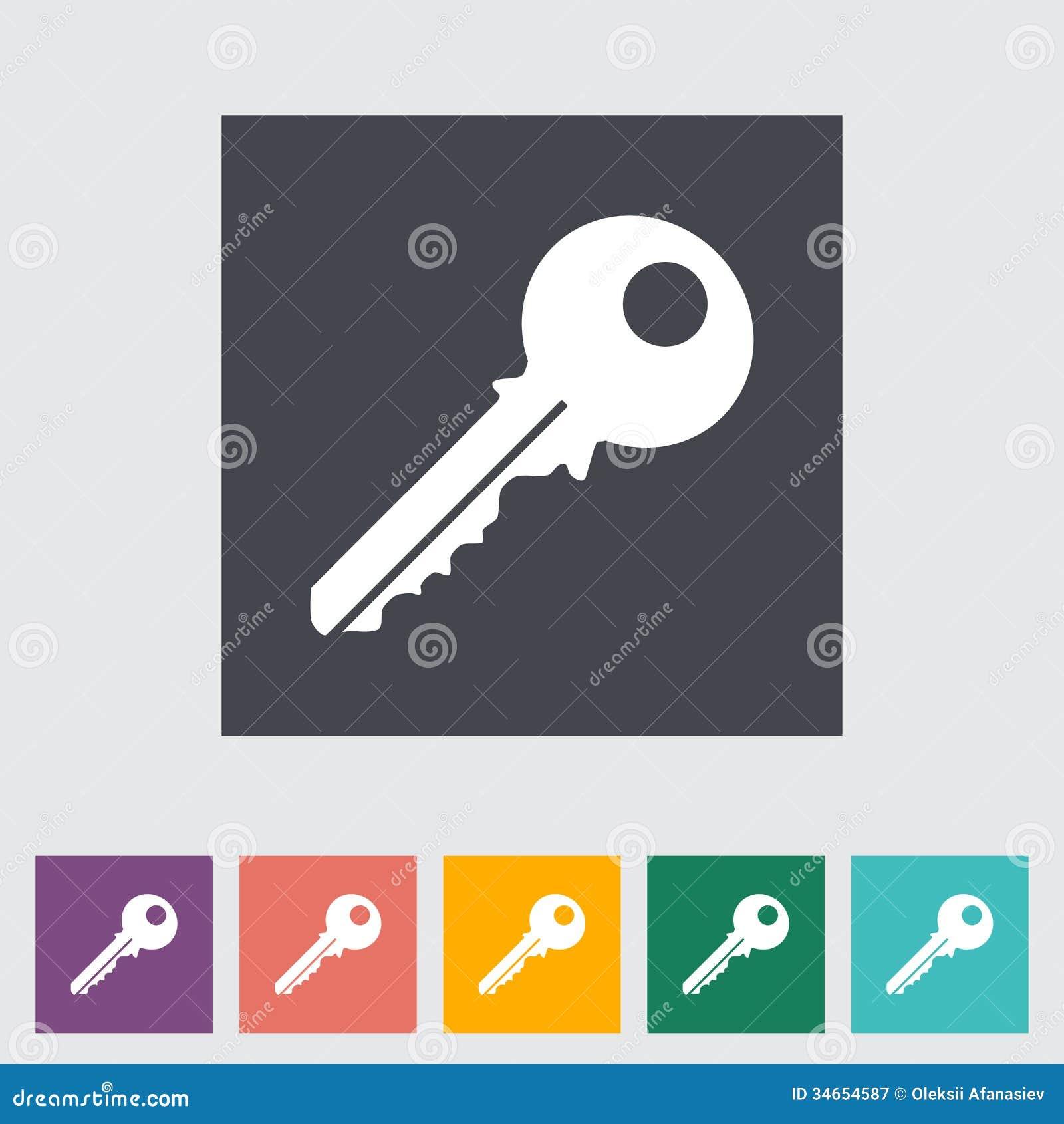 Vector Key Illustration: Key Icon Stock Vector. Illustration Of Regular, Black